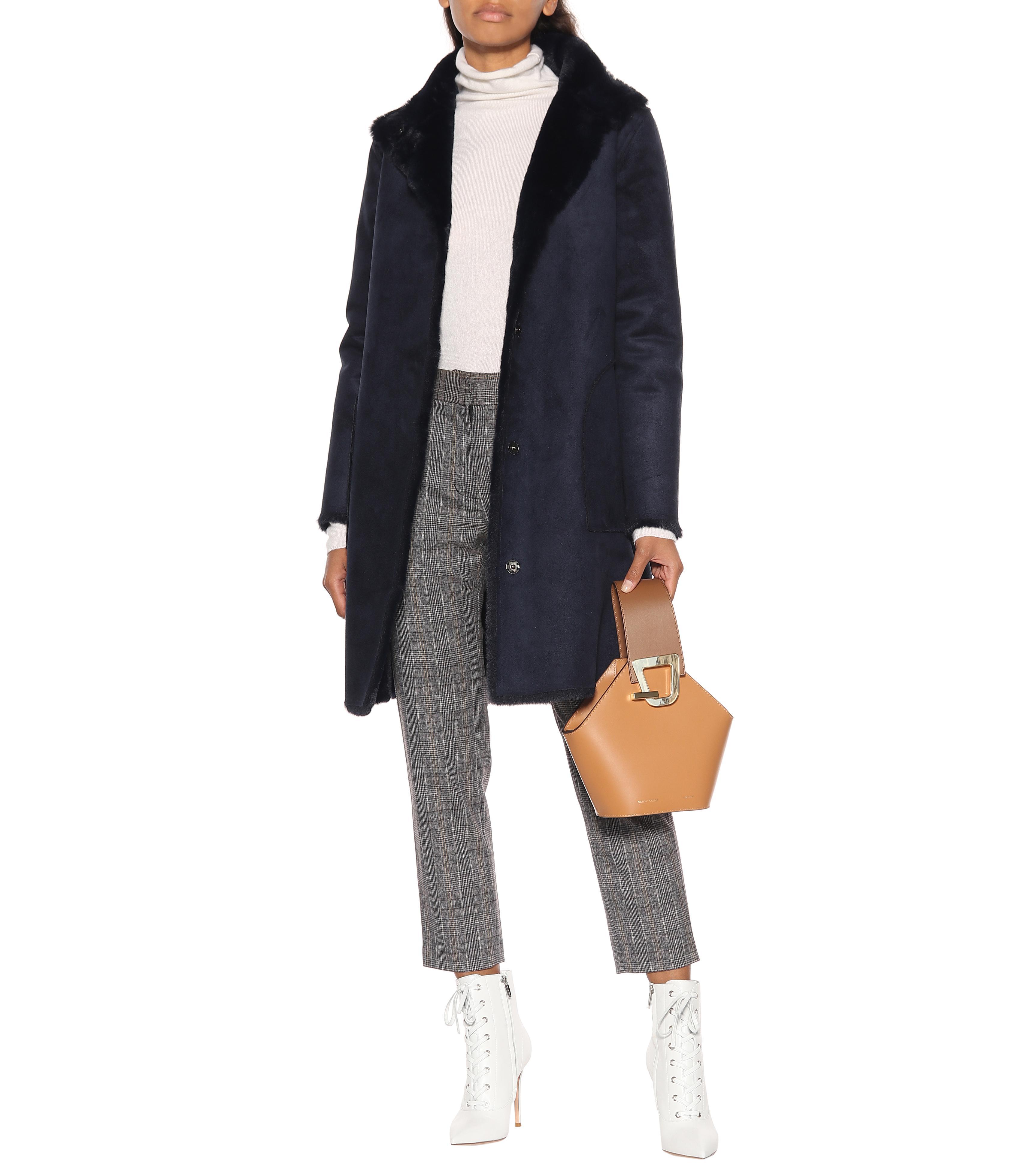 Pantalones Carilla de corte recto Velvet de Terciopelo de color Gris