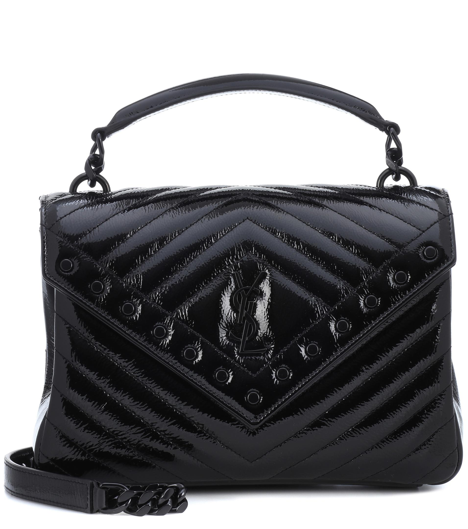 21eede3b976 Lyst - Saint Laurent Medium Collège Monogram Leather Shoulder Bag in ...