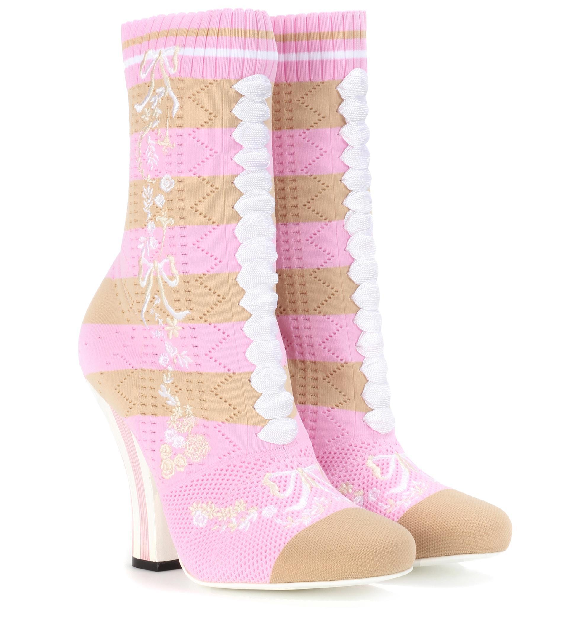 FendiStretch Sock Sandals glvGZGVQiB