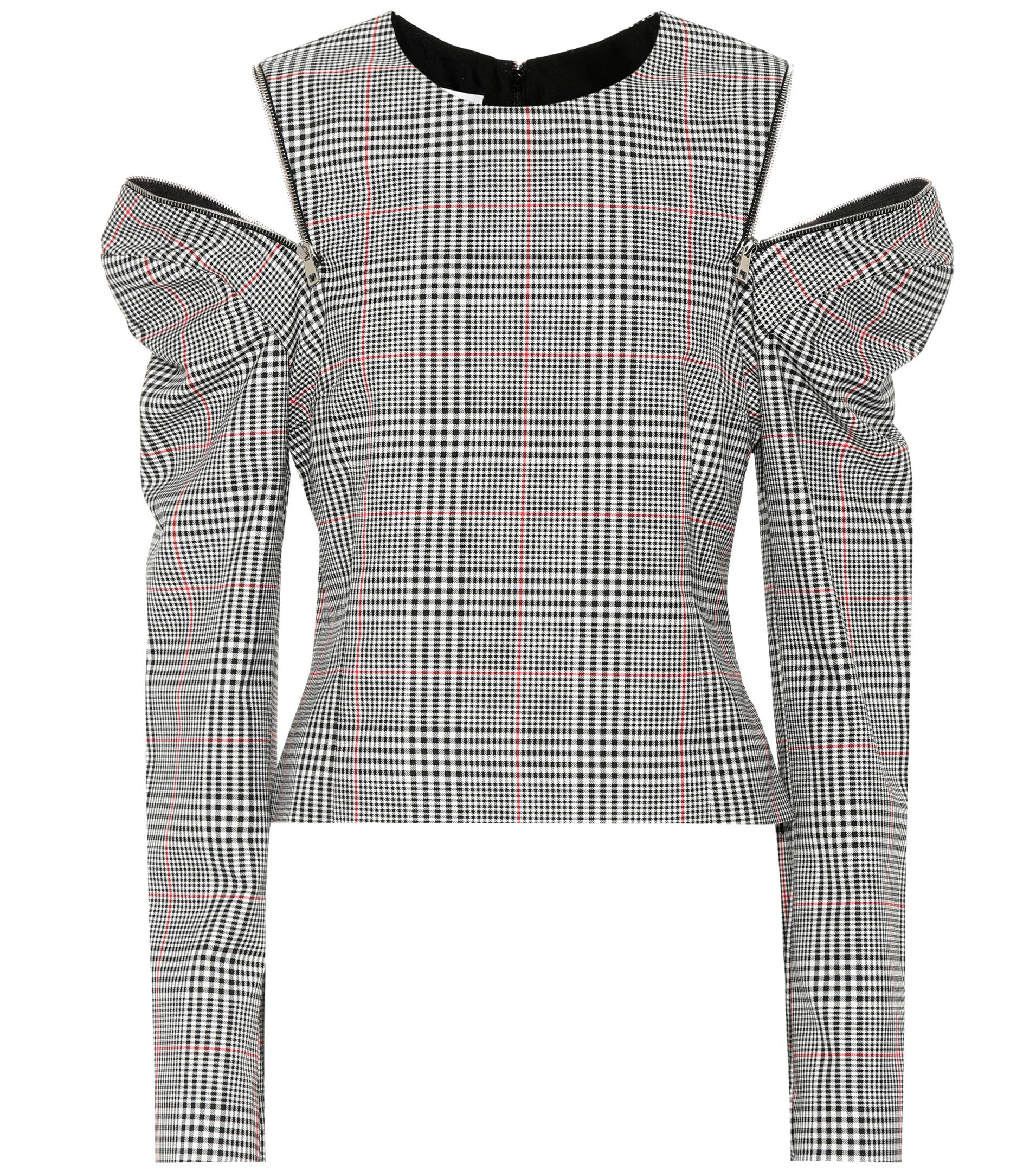 Cheap Choice Glen plaid top Monse Clearance Outlet Store Clearance Wide Range Of ovtJZ