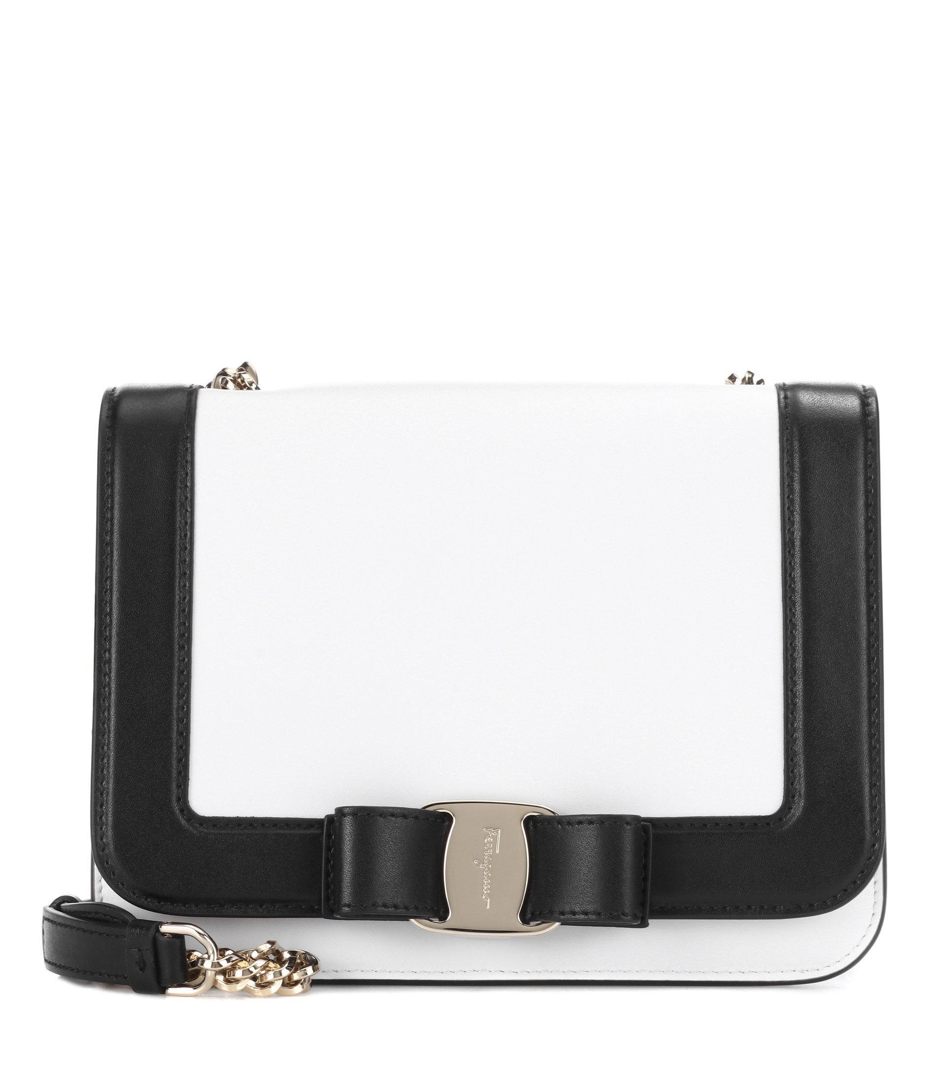 2d818544d0 Lyst - Ferragamo Small Vara Rainbow Leather Shoulder Bag in White