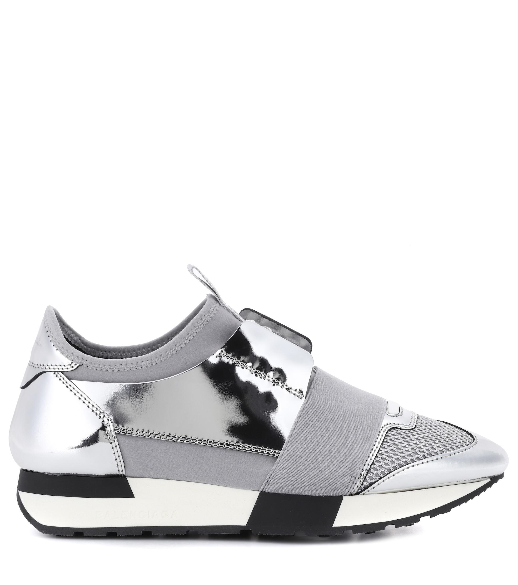 Zapatillas de piel Race Runner Balenciaga