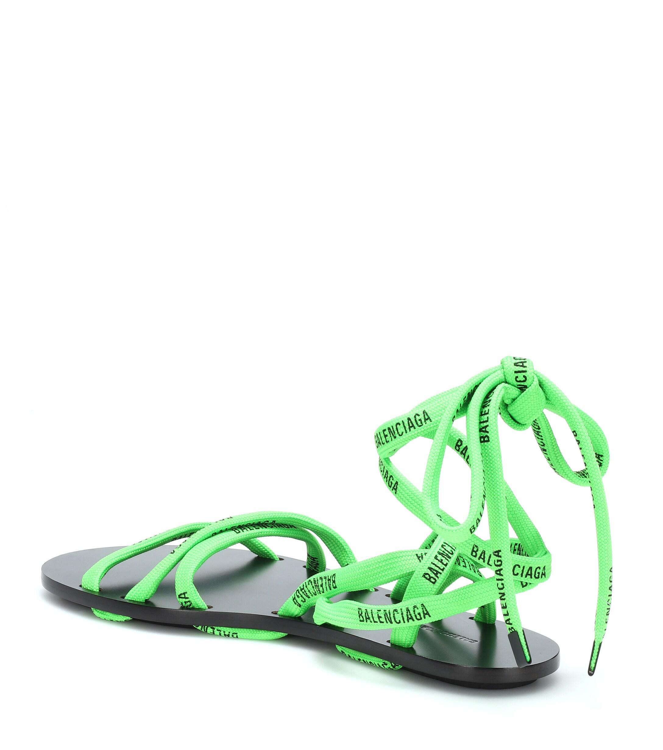 balenciaga lime green sandals Shop