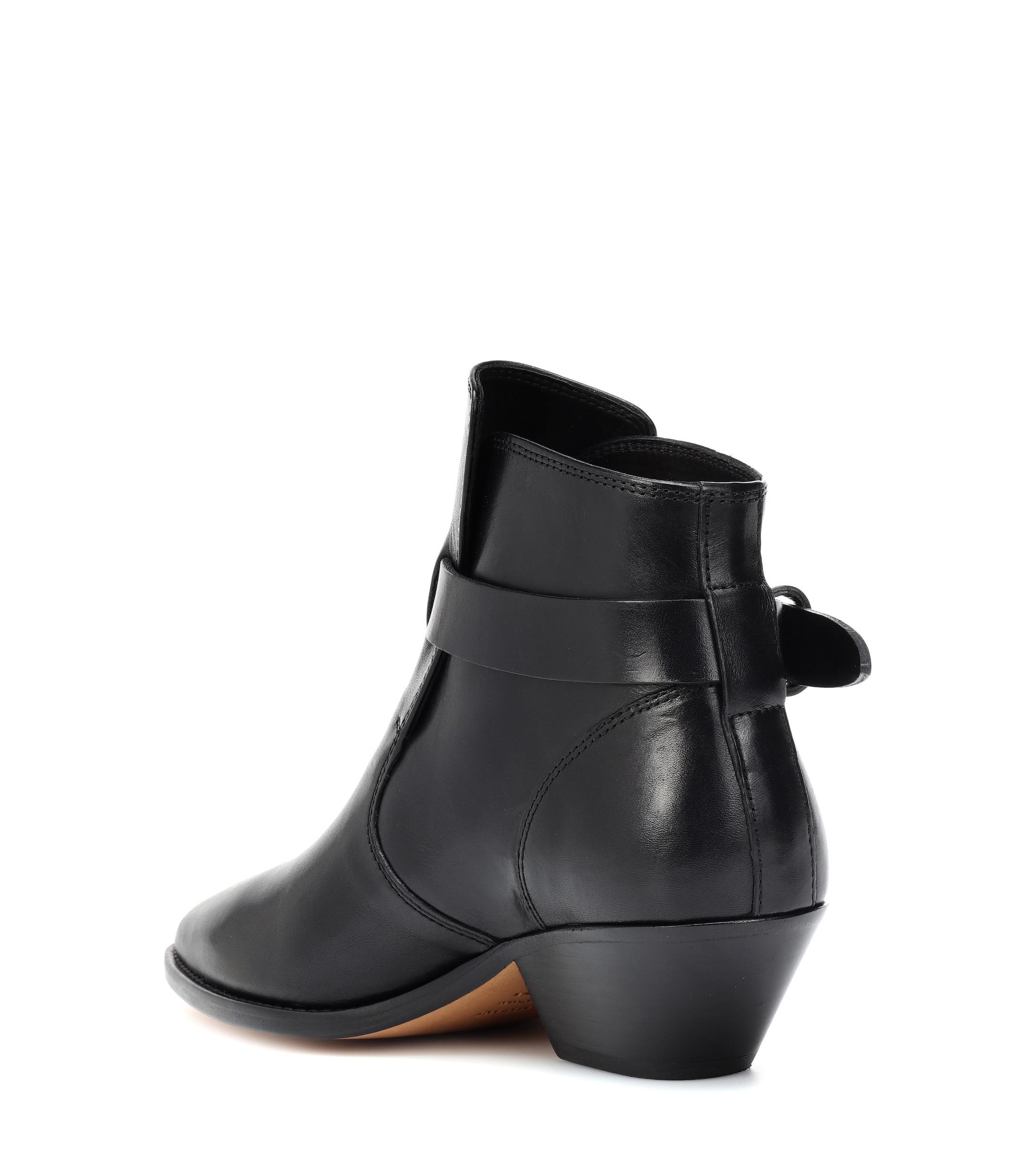 Botines de piel Santiag Isabel Marant de Cuero de color Negro