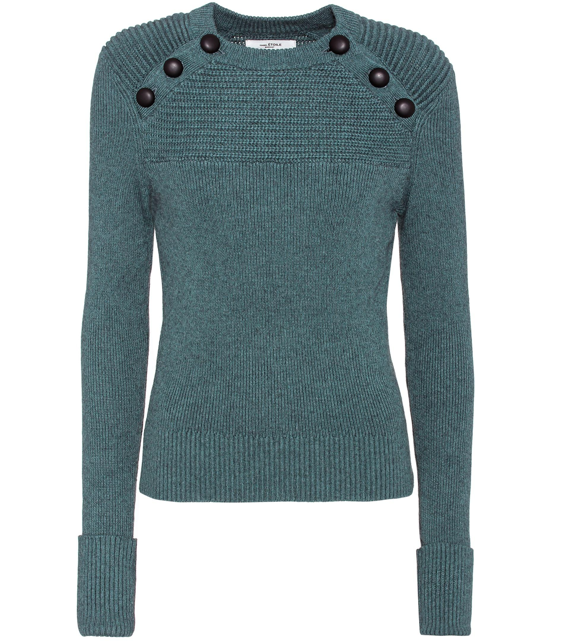 Étoile isabel marant Koyle Cotton And Wool Sweater in Blue | Lyst