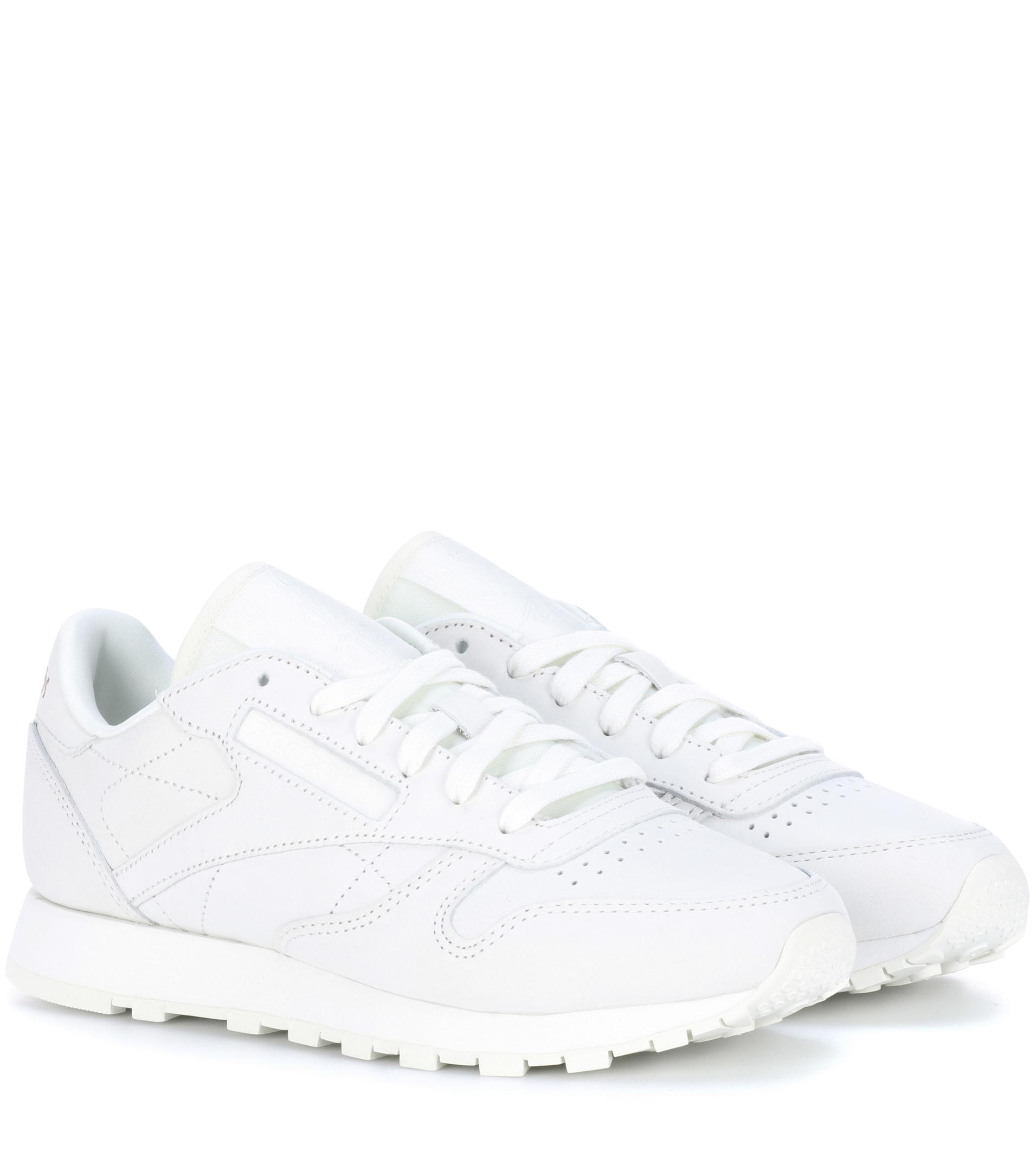 01cc49895a Reebok White Classic Leather Fbt Suede Sneakers