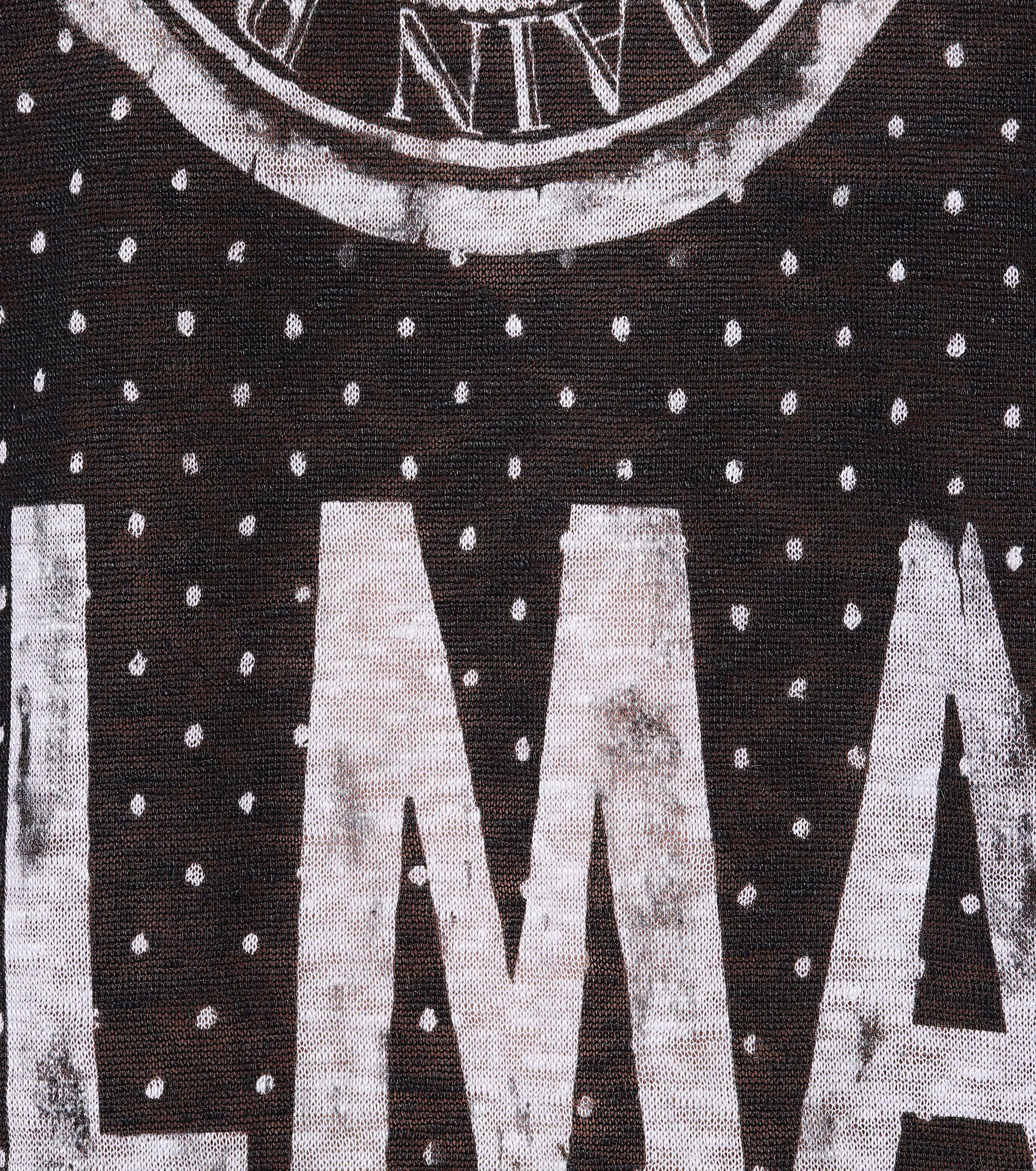 Top de lino estampado Balmain de Lino de color Negro