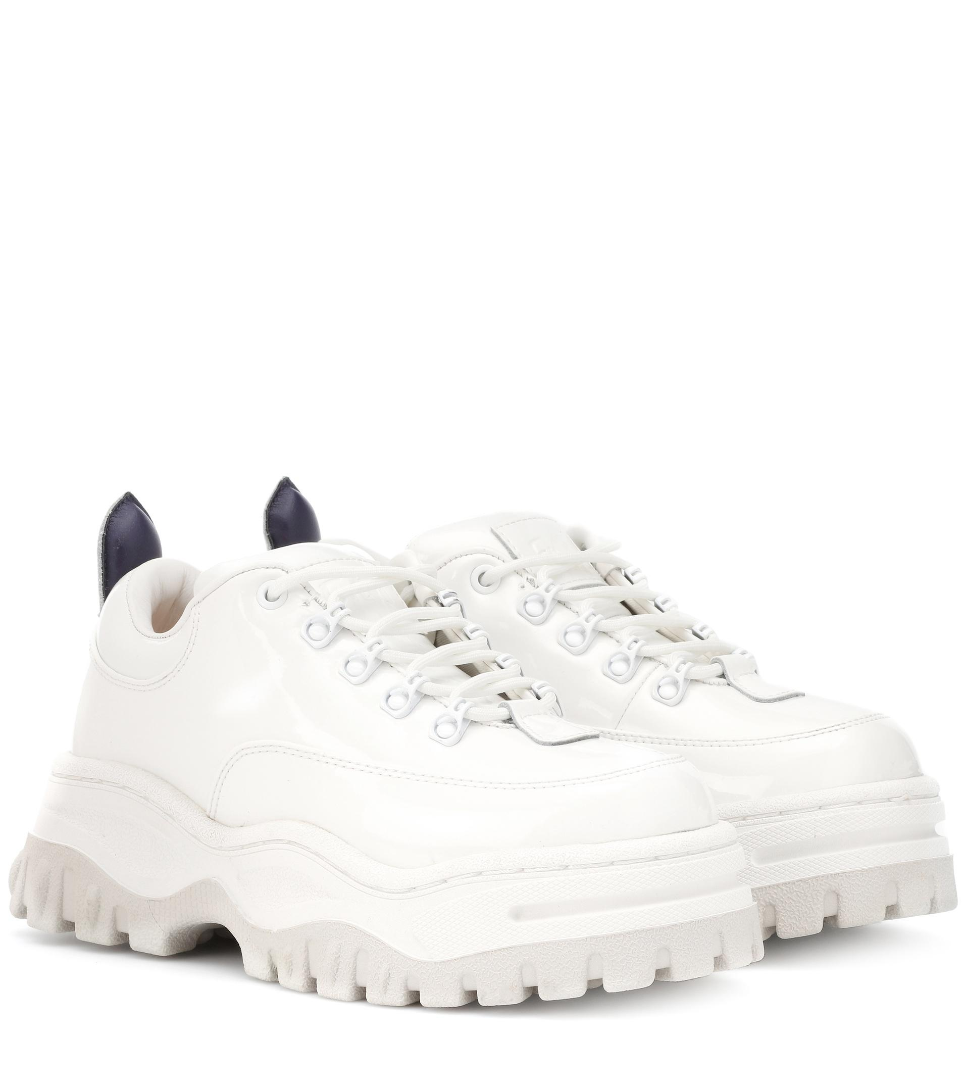Angel Save Lyst in White Leather Eytys Patent Sneakers 13 drBoeWCx