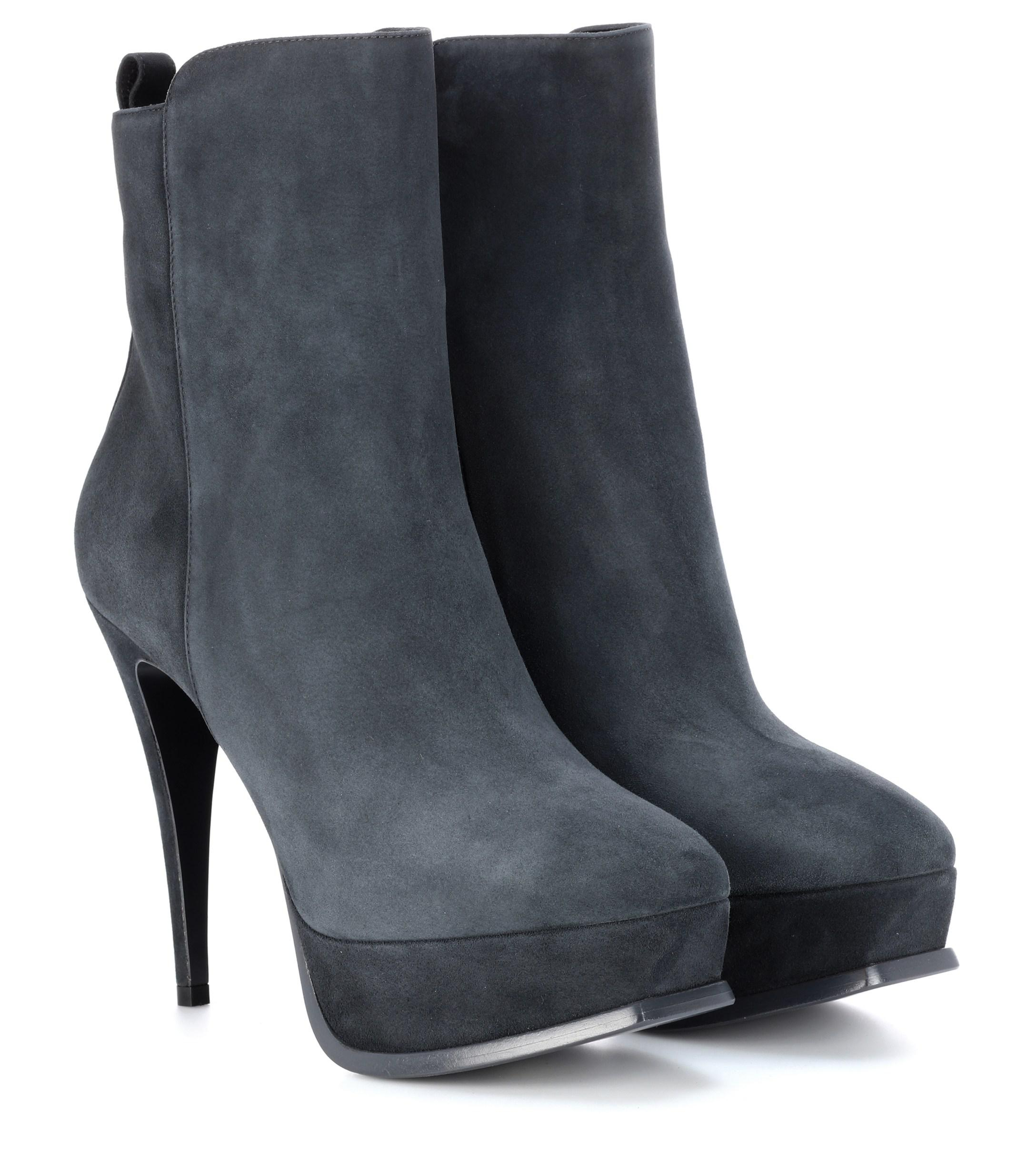 3768b2aa60035 Saint Laurent. Women s Tribute 90 Suede Ankle Boots