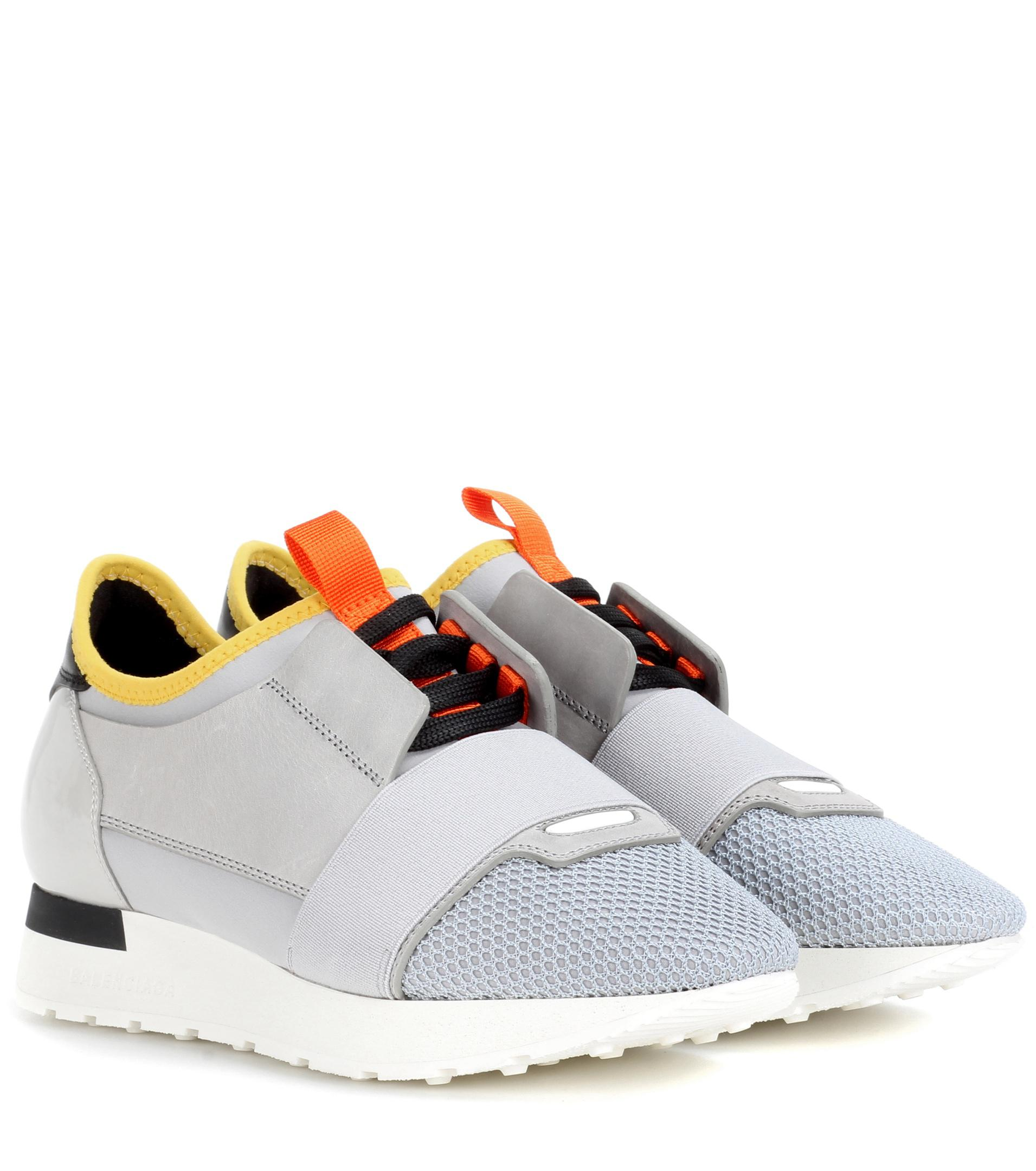 Balenciaga Race Runner Sneakers in Grey