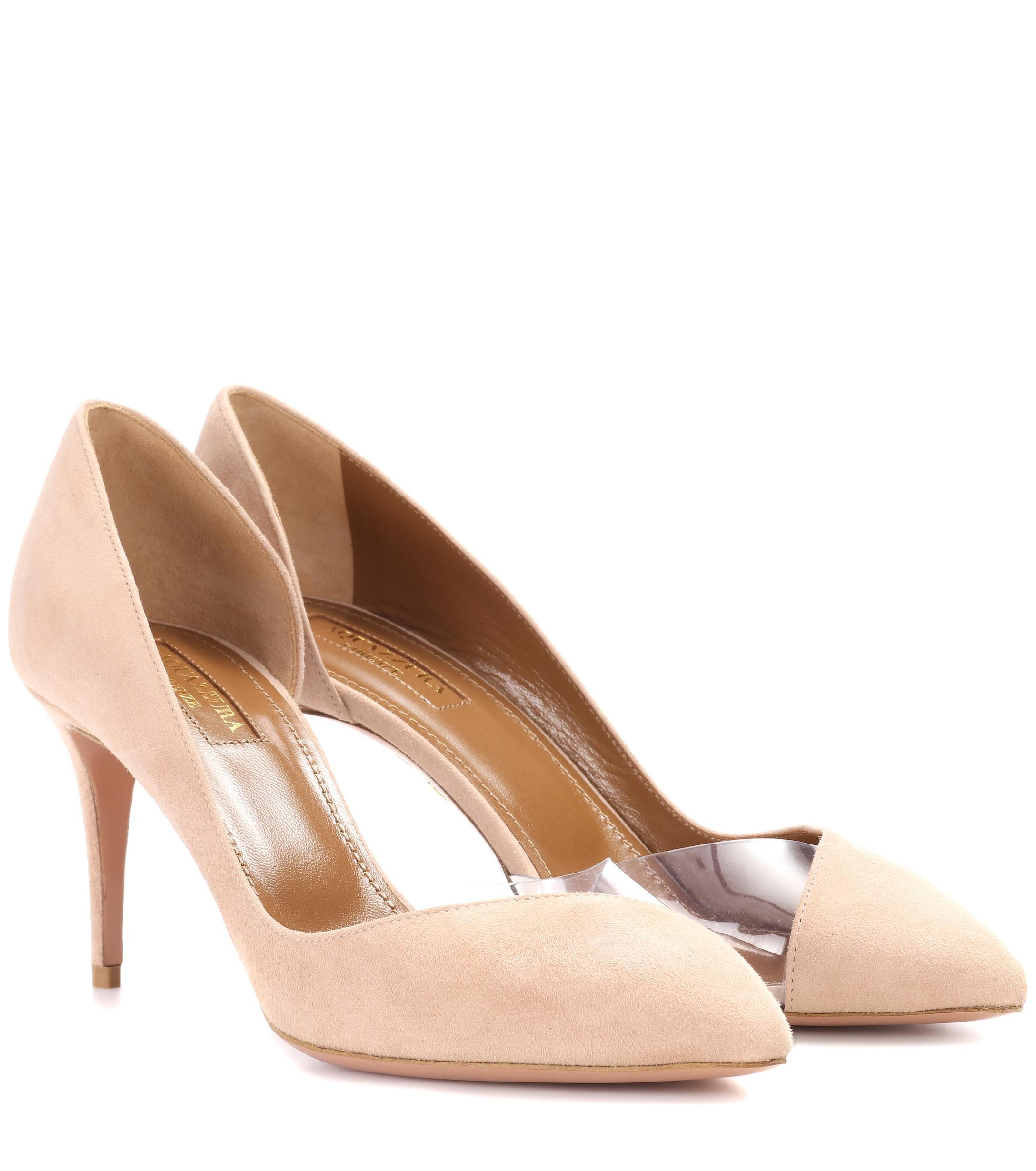 3245dc948b8 Aquazzura. Women s Pink Eclipse 75 Suede Court Shoes