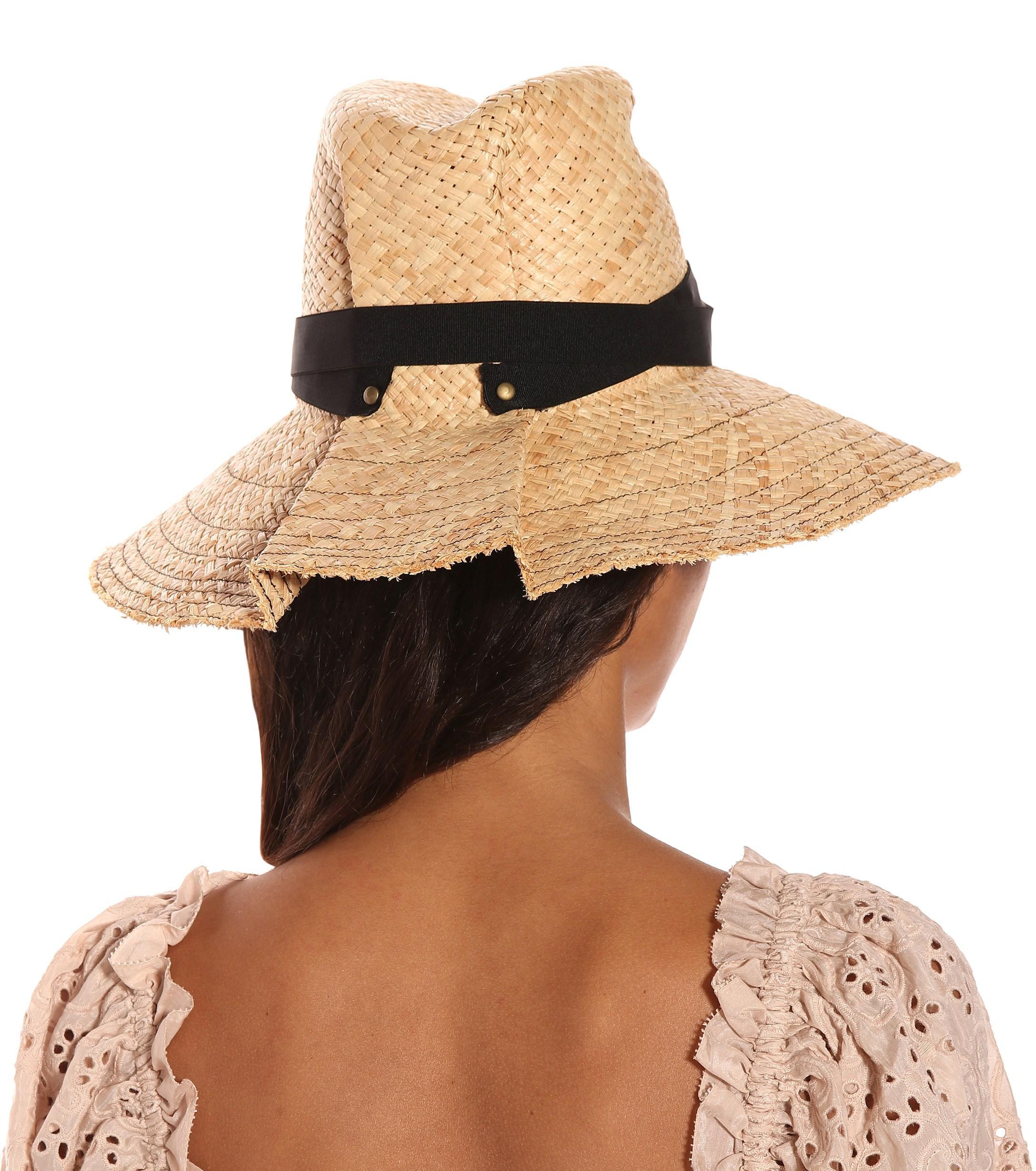 Lola Hats - Black Snap First Aid Raffia Hat - Lyst. View fullscreen a0264161165b