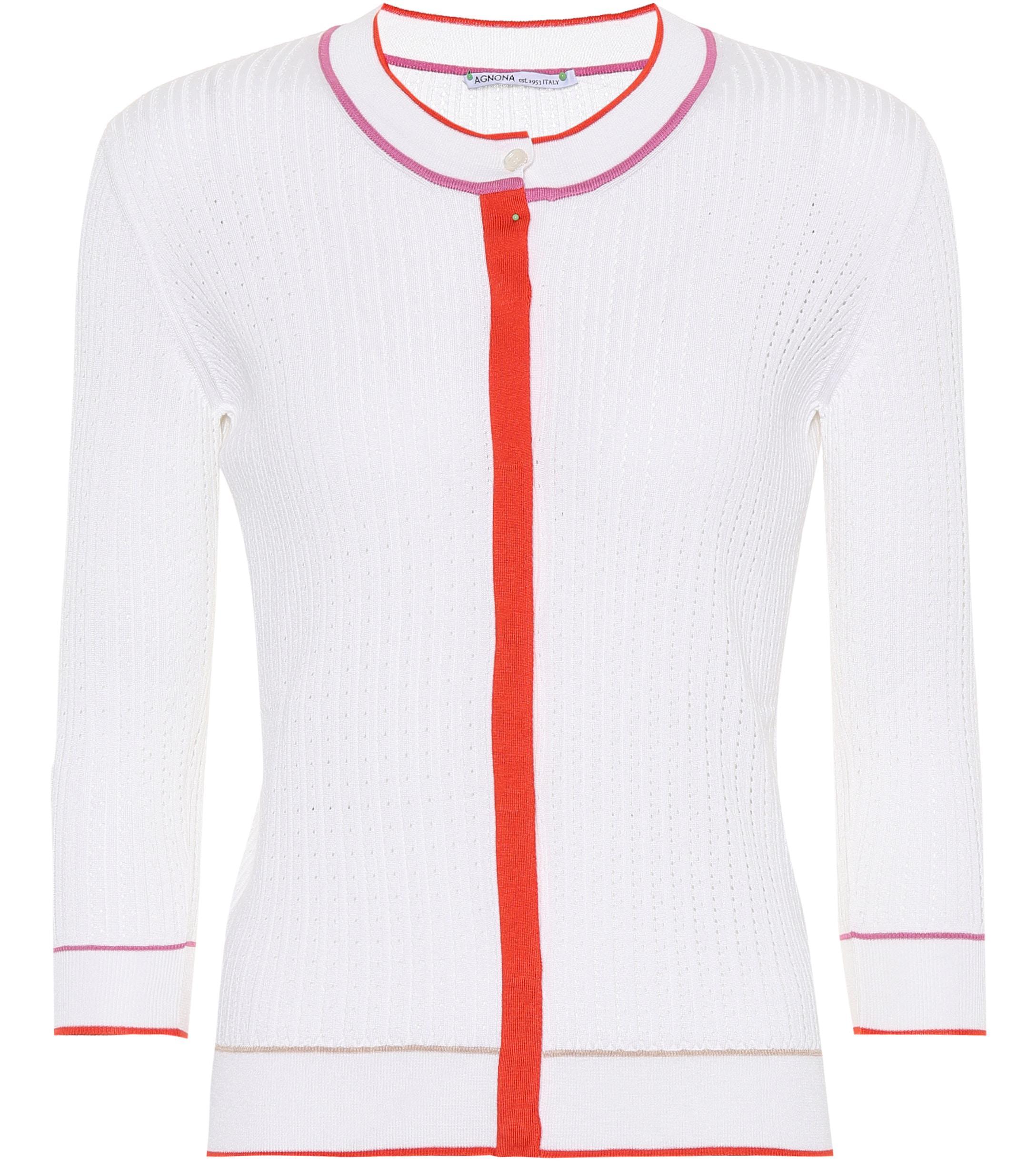 f42f7ea577c5f4 Agnona. Women s Silk And Cotton Cardigan
