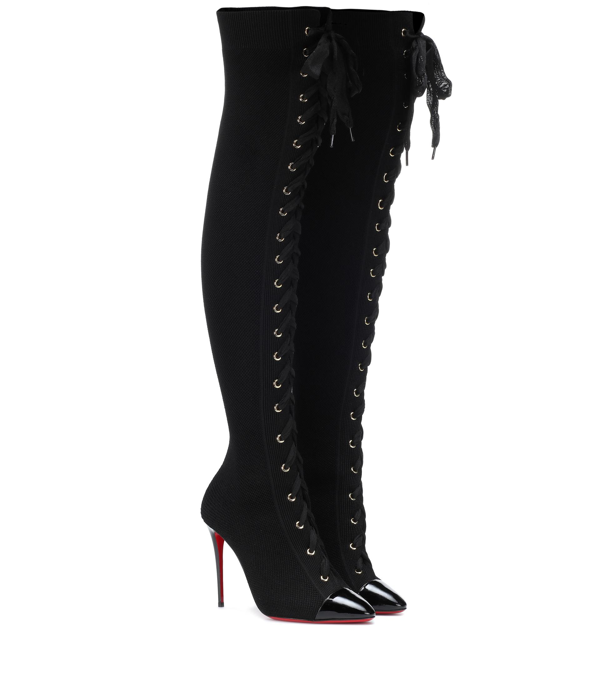 promo code a15fb 9b597 Women's Black Frenchie 100 Over-the-knee Boots