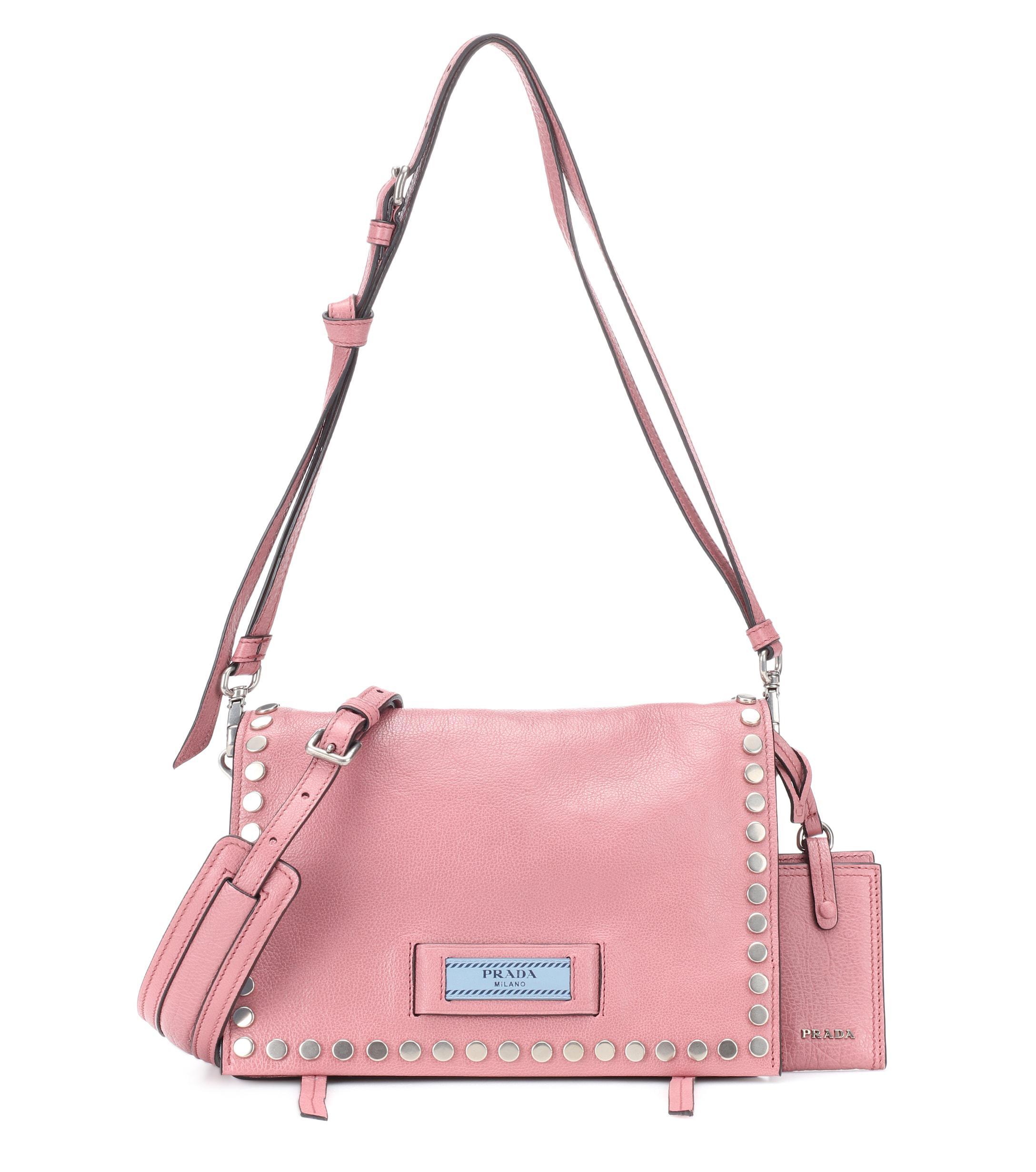 3ef8412d86fe69 Prada. Women's Embellished Leather Shoulder Bag