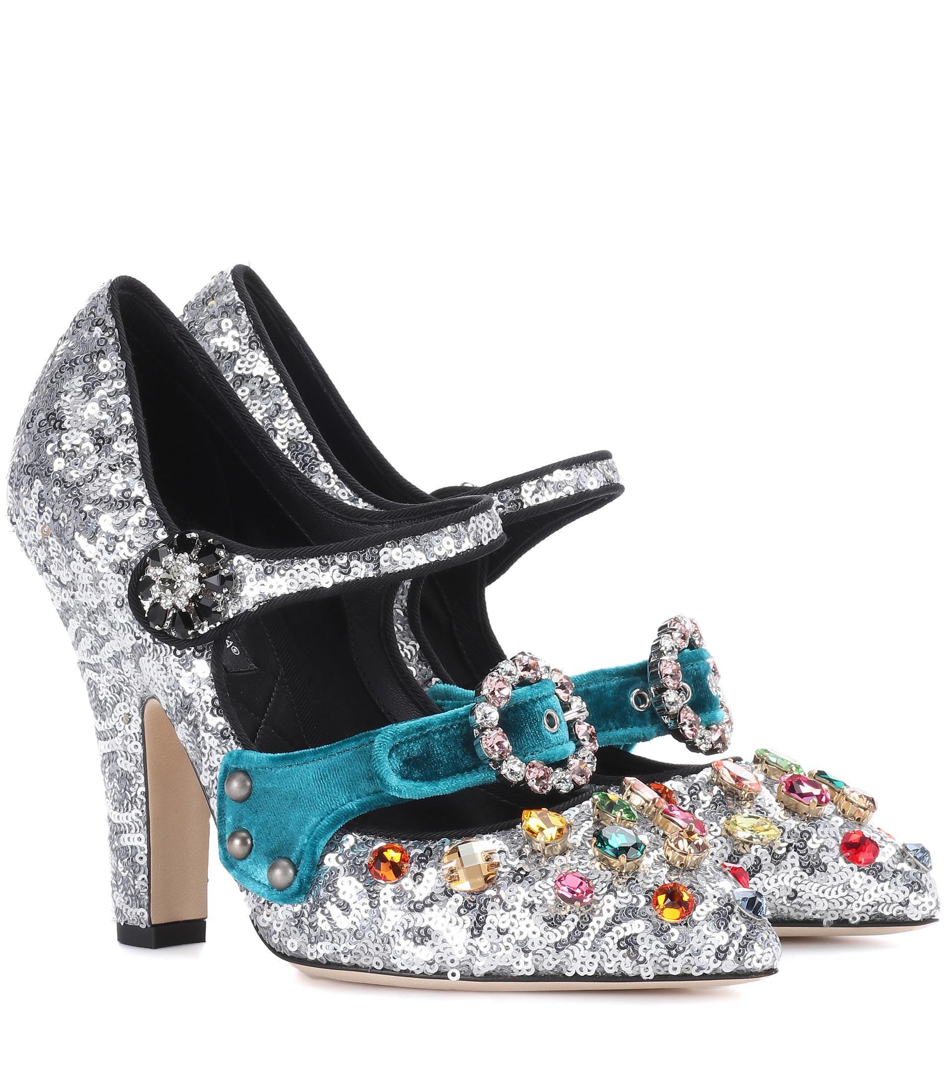 Dolce & Gabbana Embellished sequinned pumps kdTBk