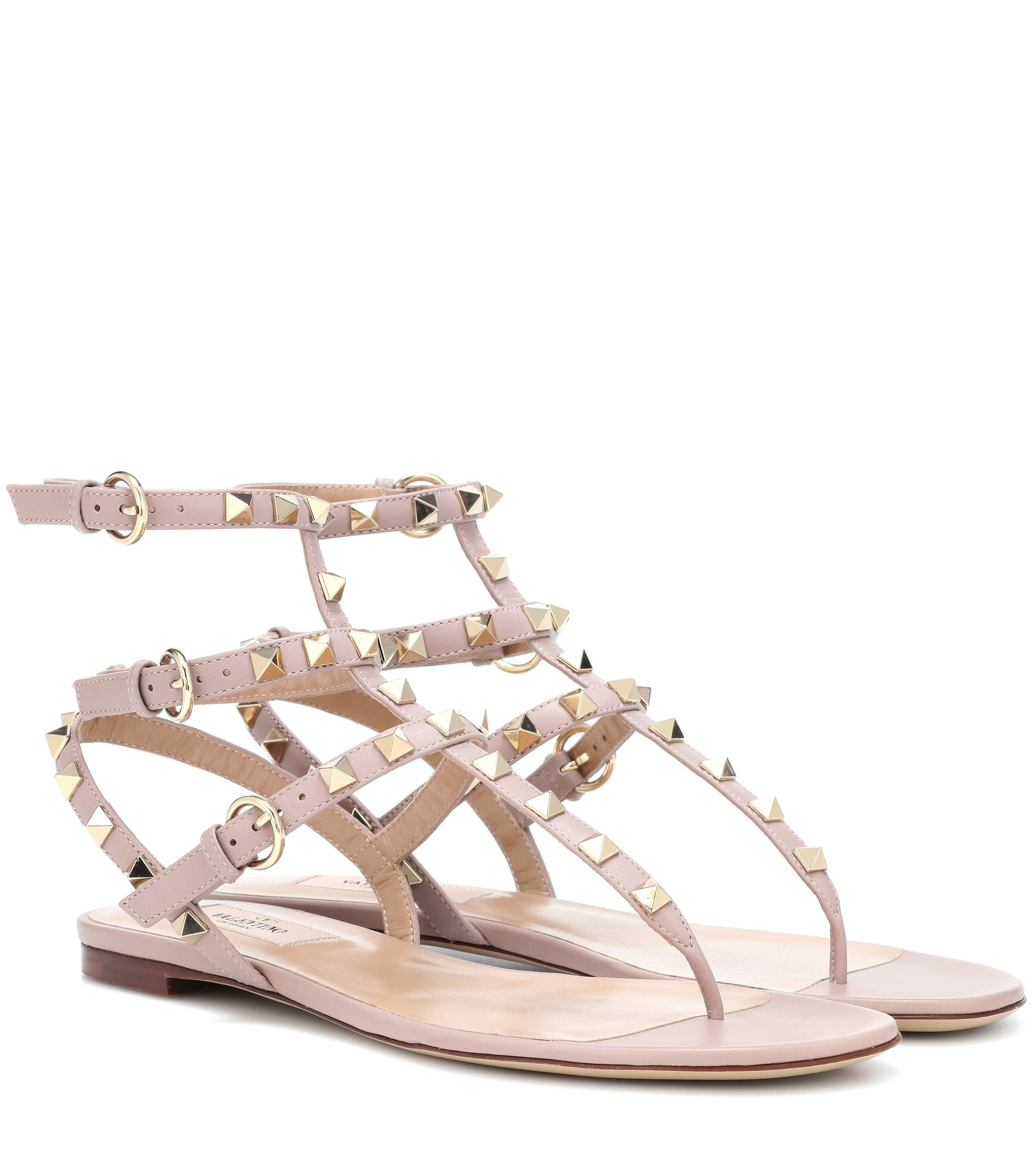 6f441a557 Valentino. Women's Rockstud Leather Sandals