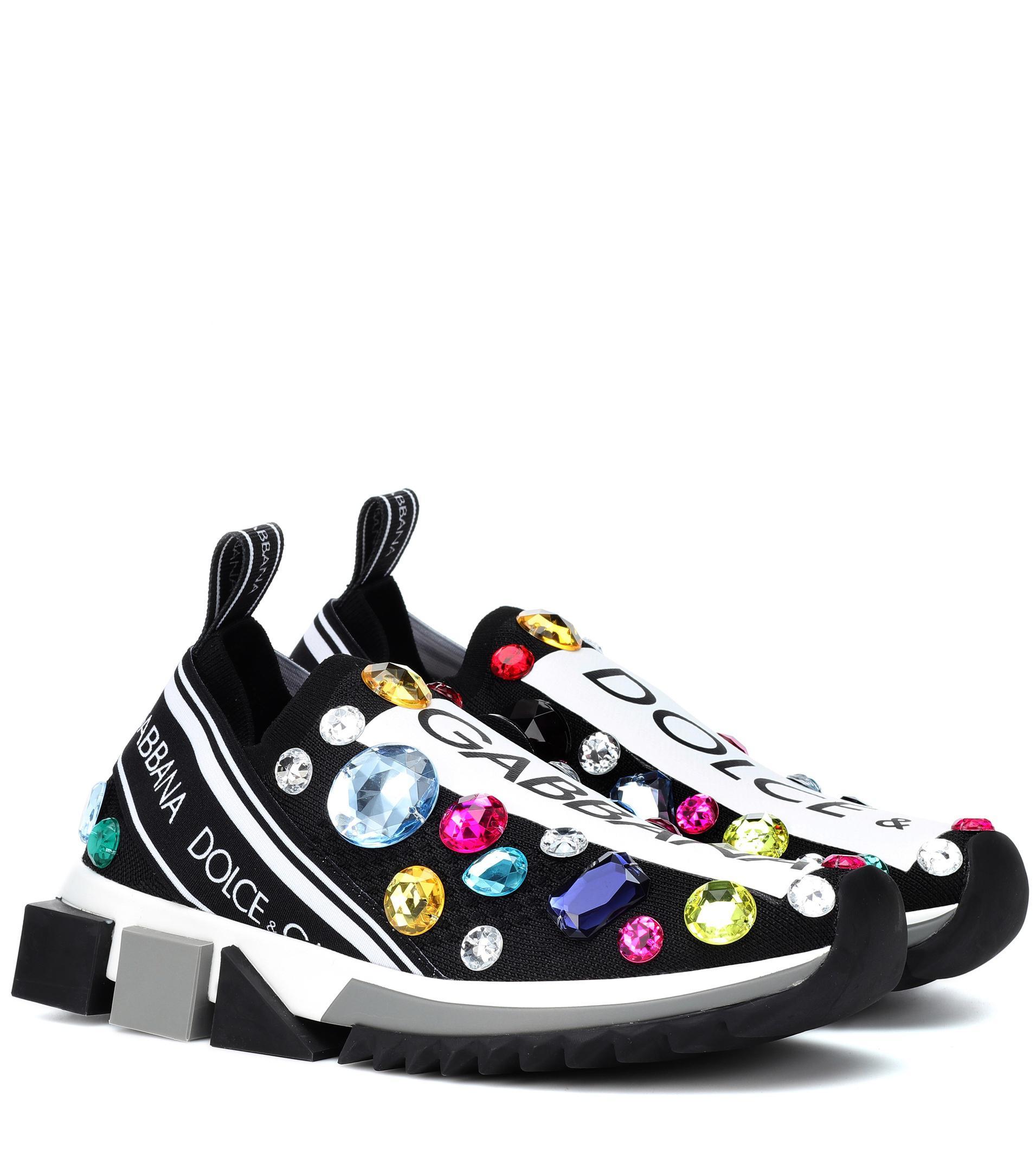 \u0026 Gabbana Sorrento Embellished Sneakers