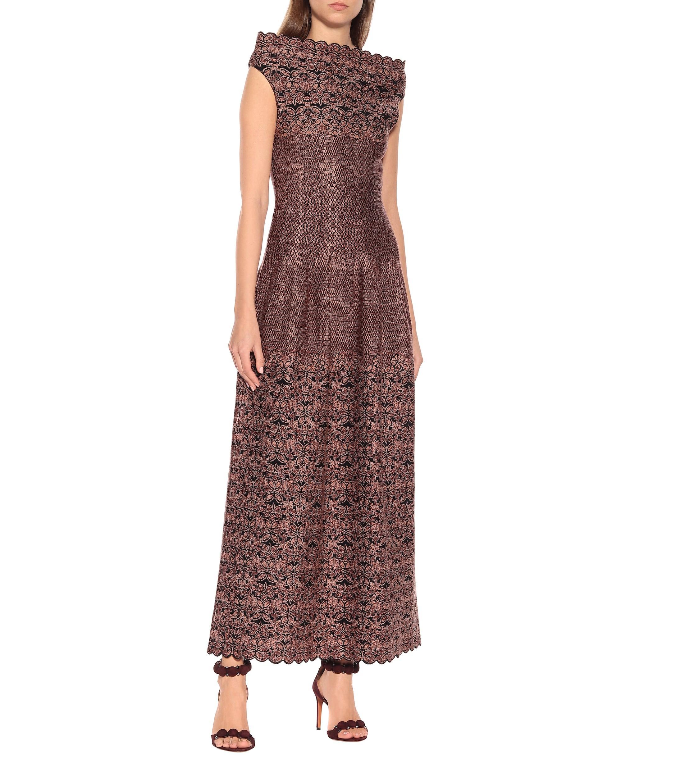 Vestido de punto de jacquard Alaïa