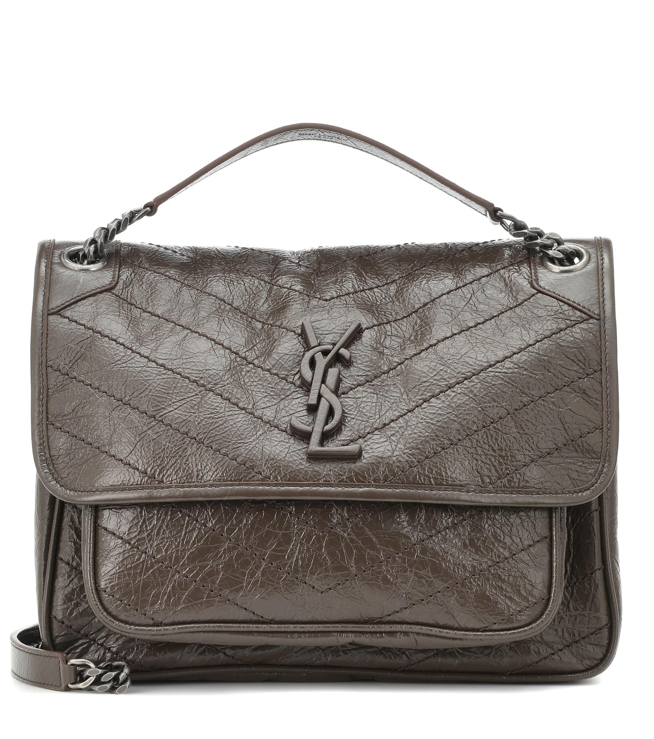 916dae7fe9d8 Saint Laurent Medium Niki Leather Shoulder Bag in Brown - Lyst