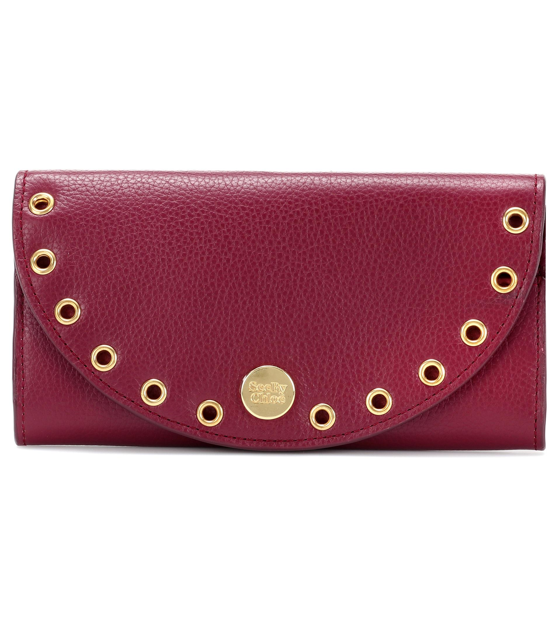 Kriss embellished leather wallet See By Chlo RzmQAyDl5