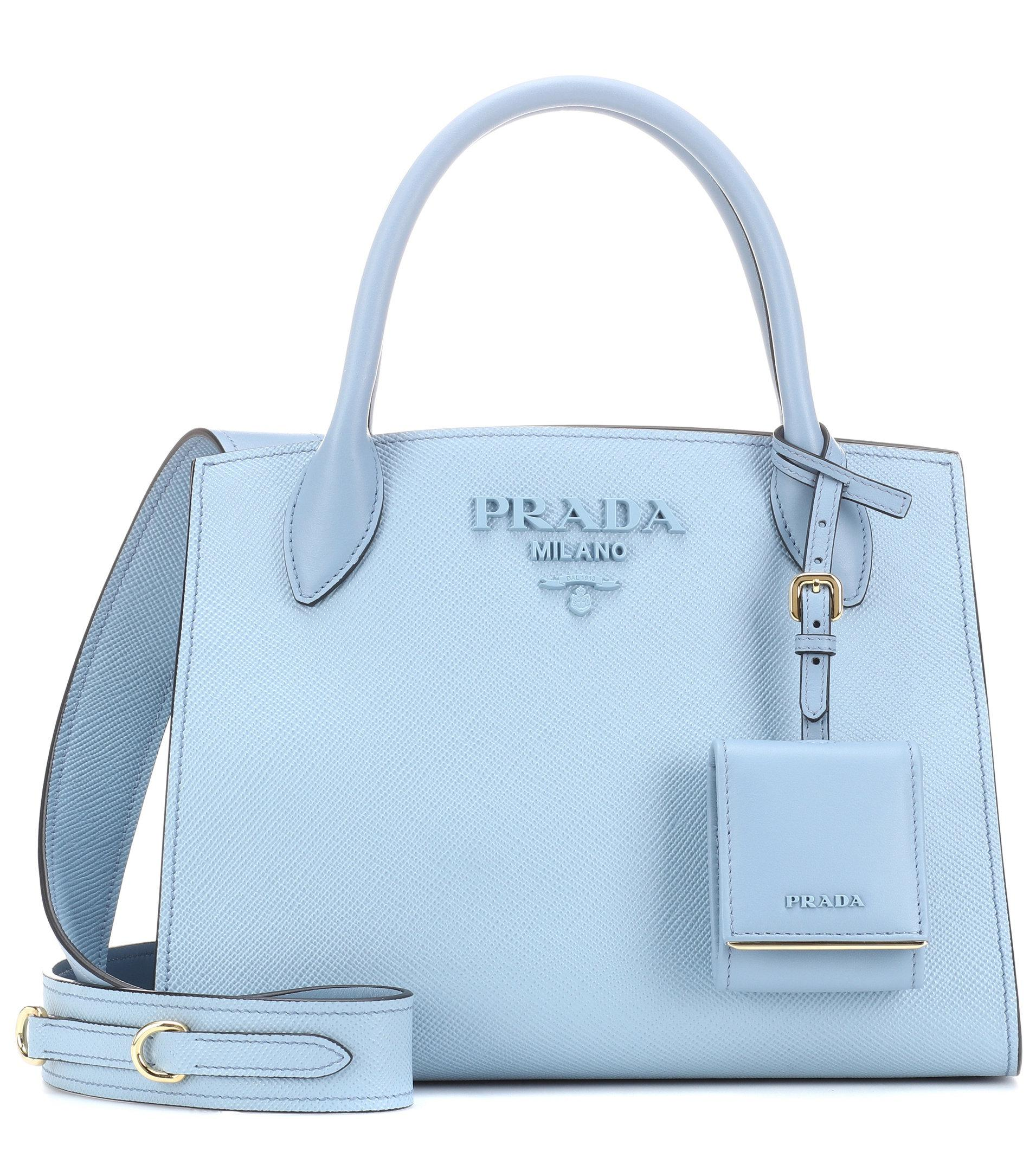 405ee1c5dbf8 ... for sale d0e0c fa297 where can i buy lyst prada saffiano leather tote  in blue 35d80 787aa ...