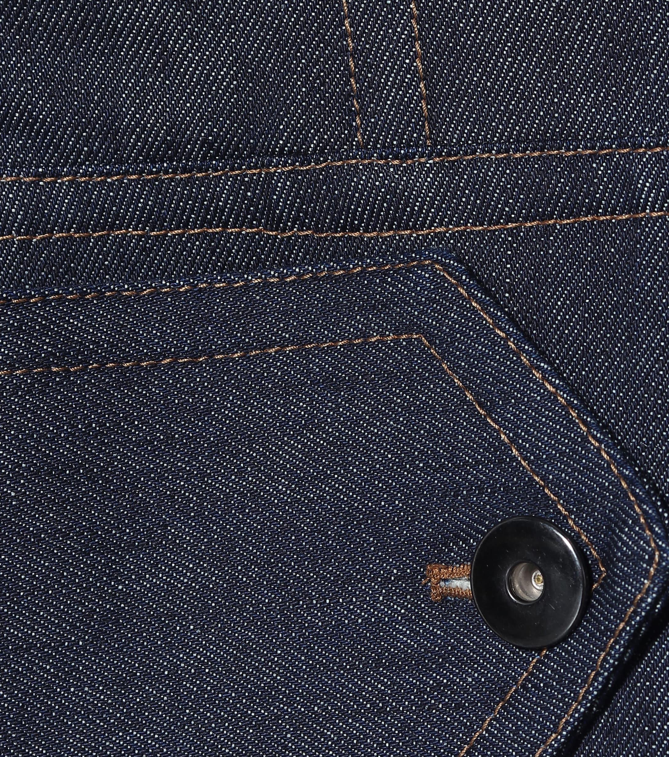 Veste en jean à encolure bardot Matthew Adams Dolan en coloris Bleu