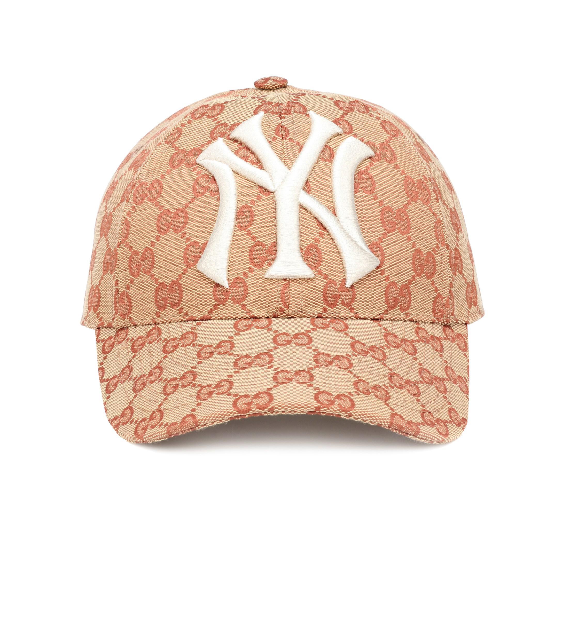 Gucci Ny Yankeestm Patch Cap in Red - Lyst 7b5e608e5de7