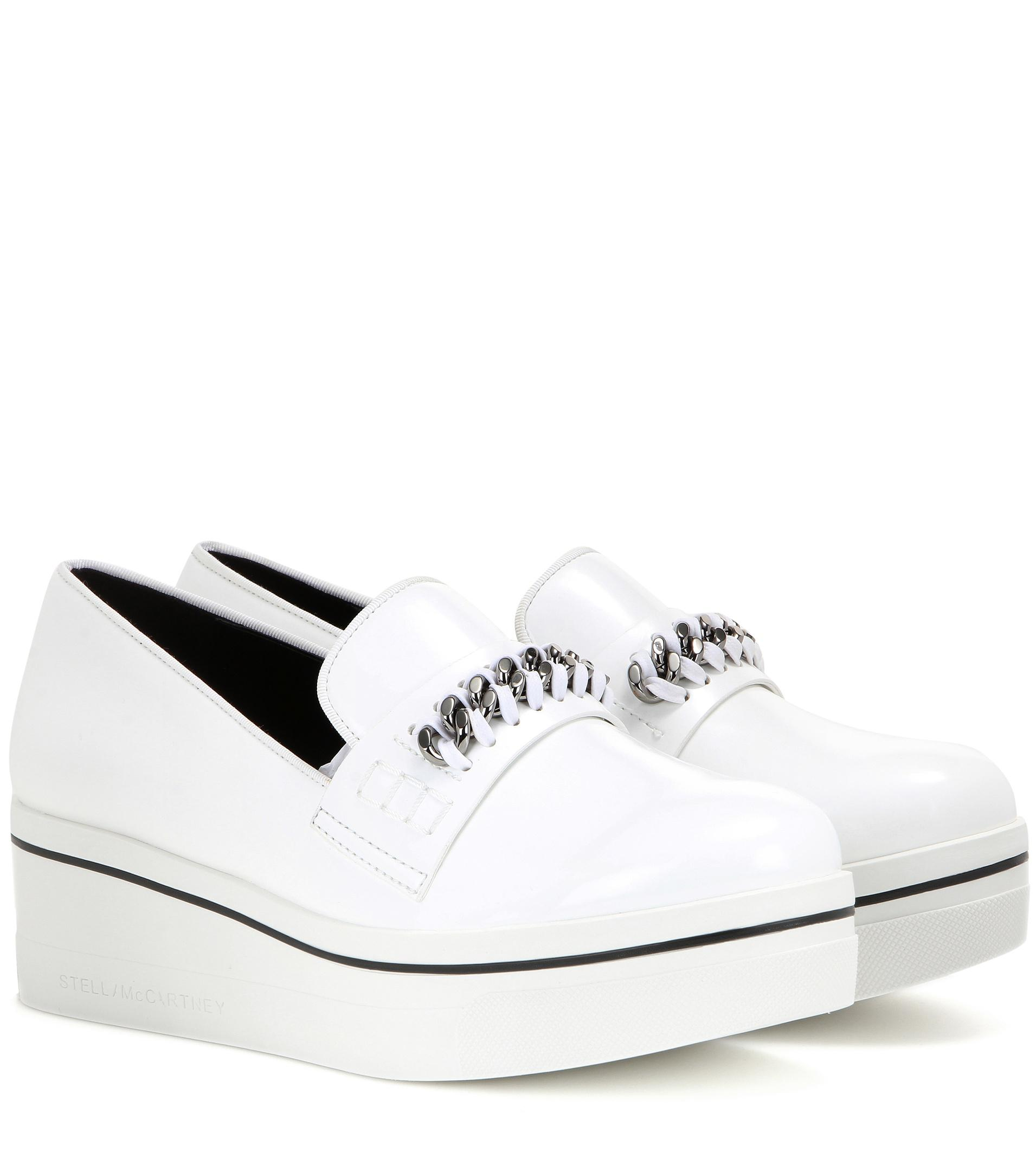 Stella McCartney Embellished faux leather platform slip-on sneakers discount pay with paypal H4qQS8UwNP