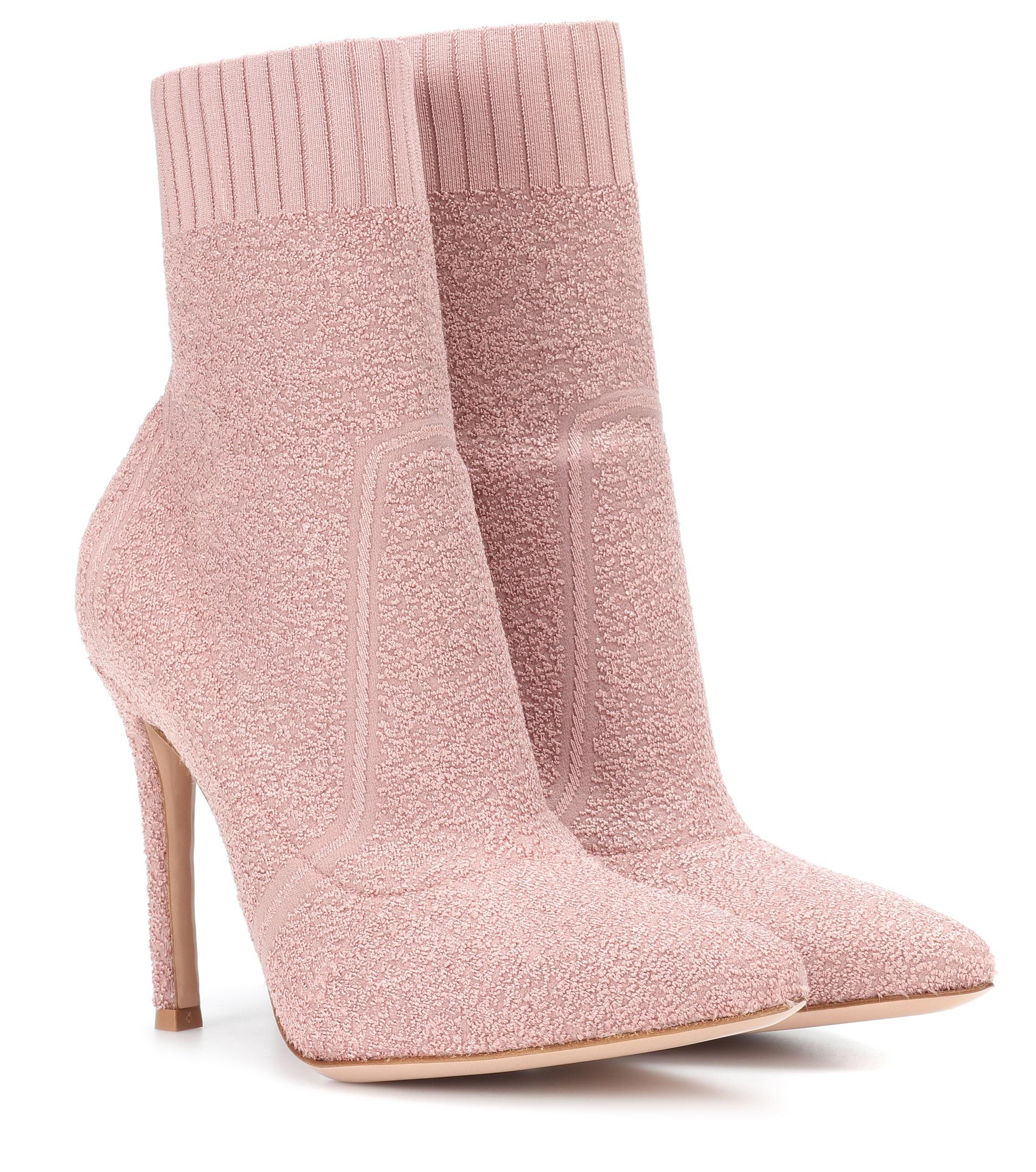 Gianvito Rossi Fiona 105 bouclé ankle boots KHkhXEio