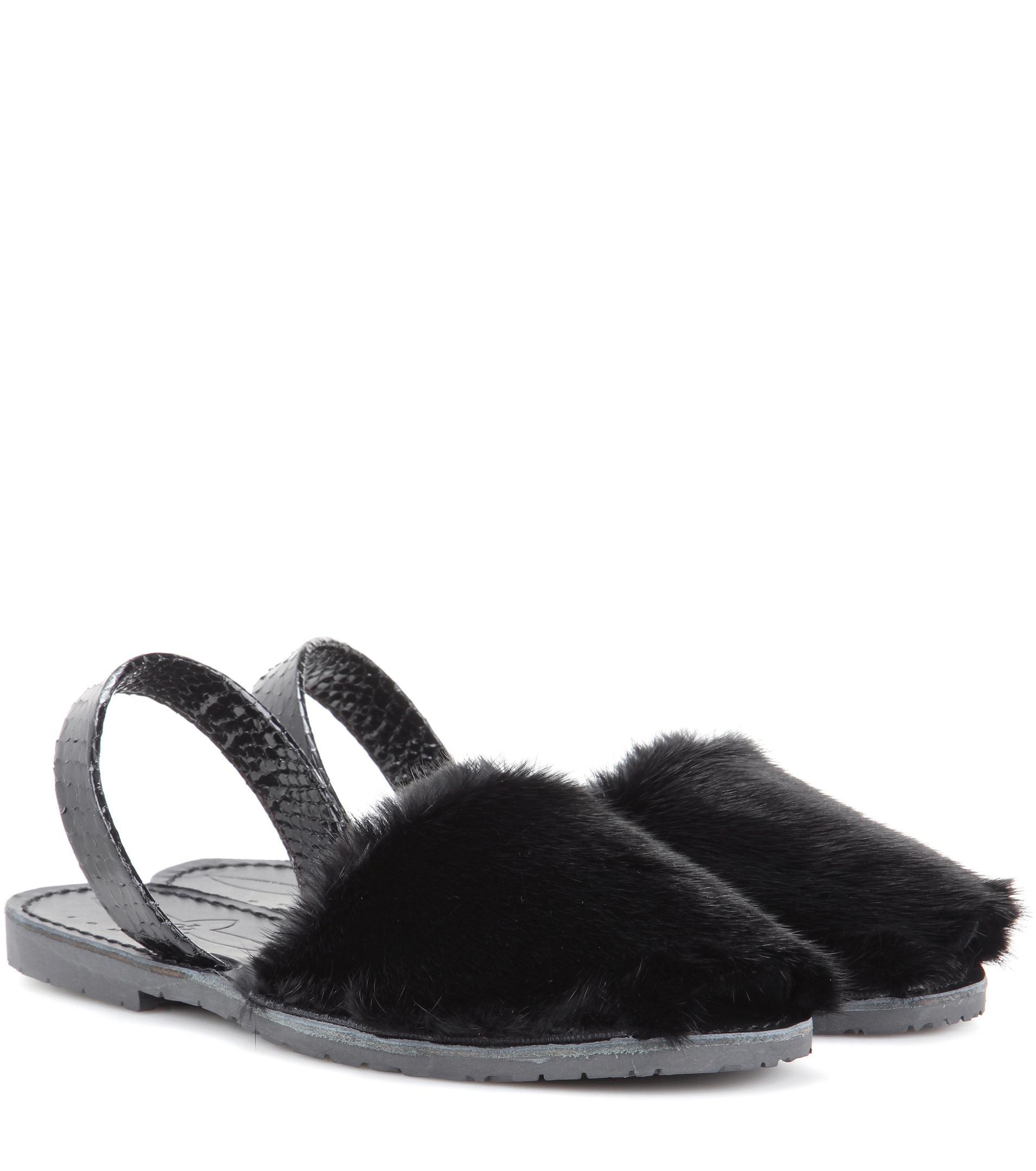 hot sale online d77f1 c5449 del-rio-london-black-Classic-Fur-And-Snakeskin-Sandals.jpeg