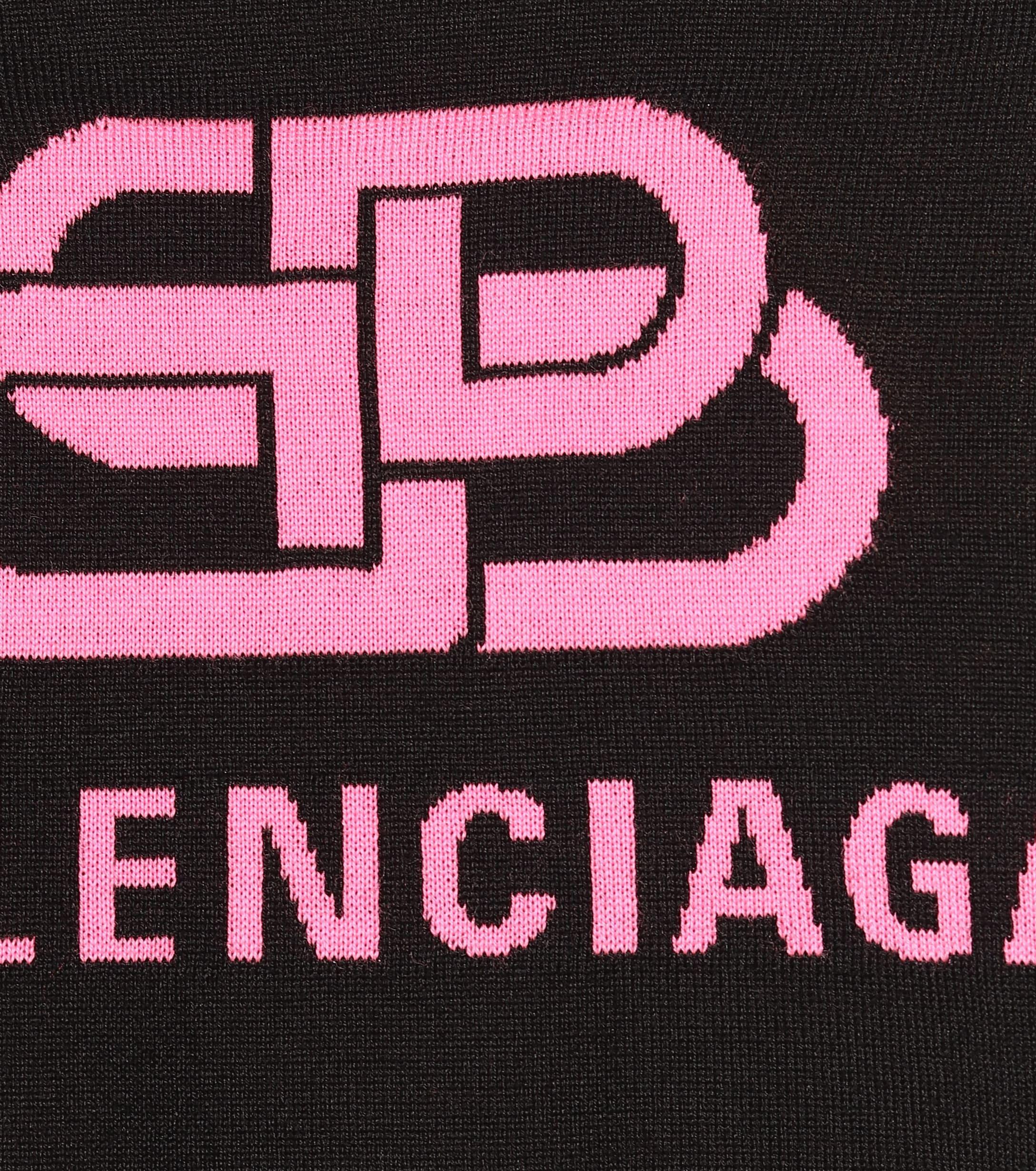 Jersey de lana con logo Balenciaga de color Negro