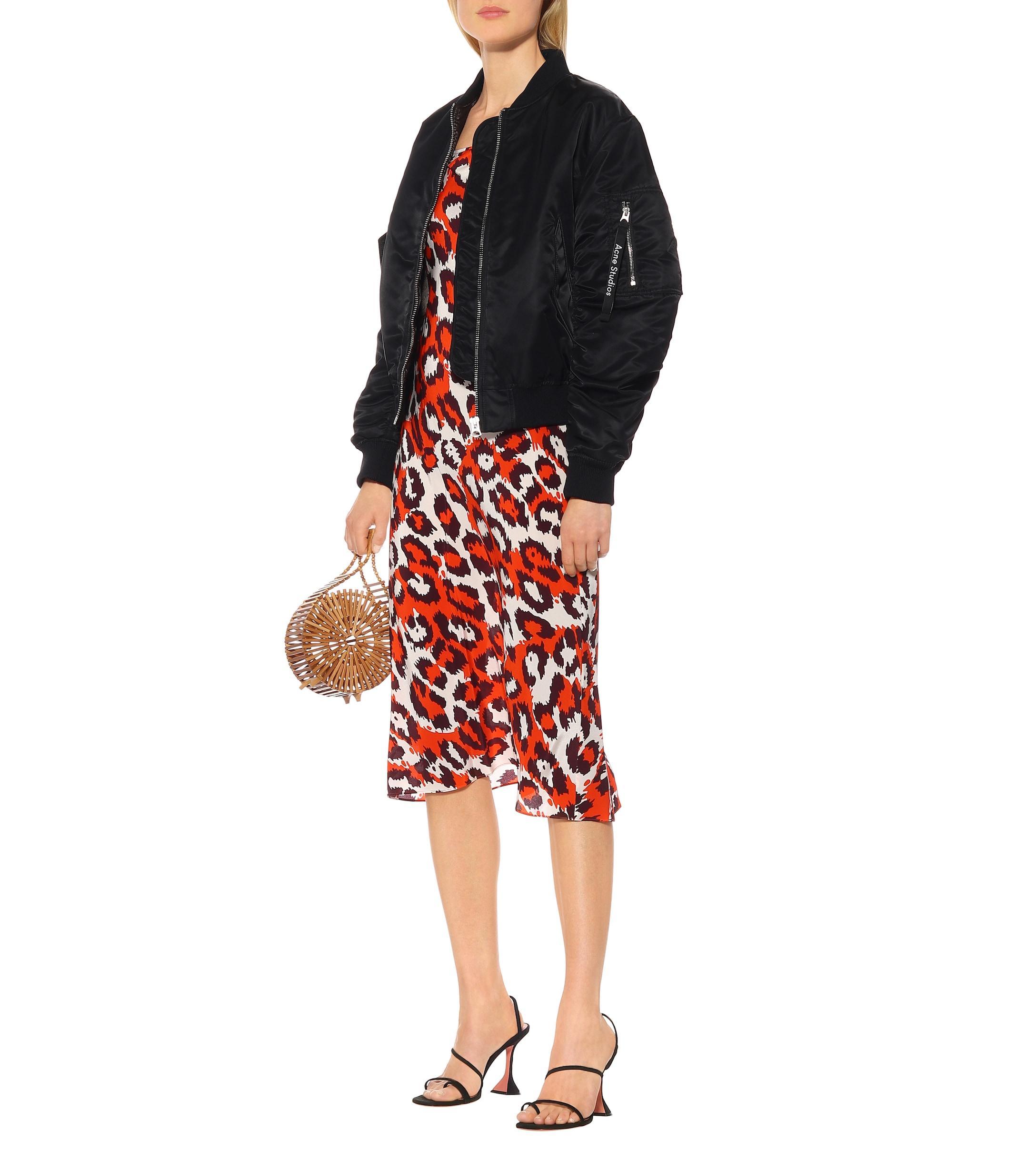 Vestido lencero Lespo de seda Diane von Furstenberg de Seda de color Rojo