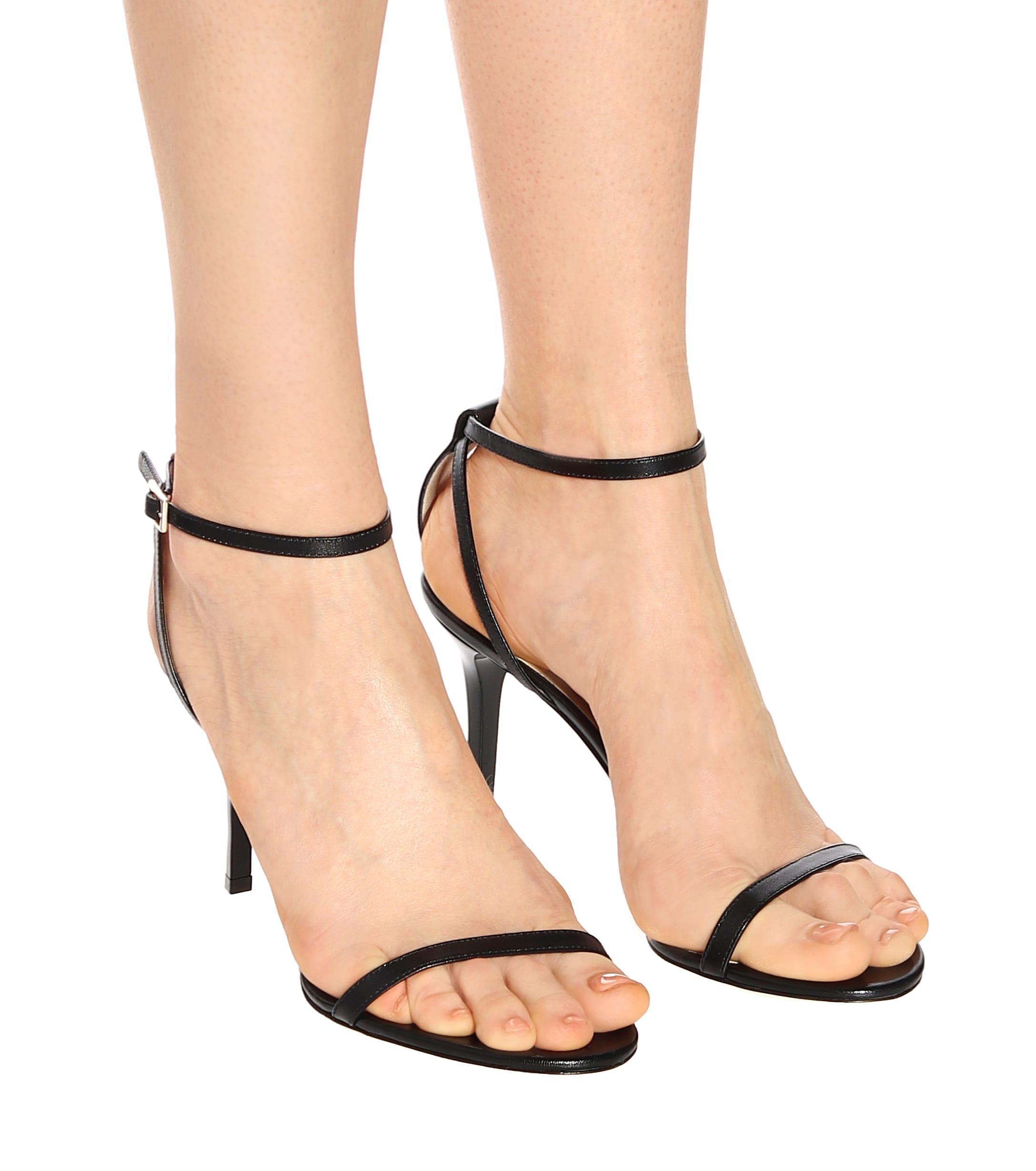 Minny 85 Sandales En Daim Daim Jimmy Choo en coloris Noir - 30 % de réduction