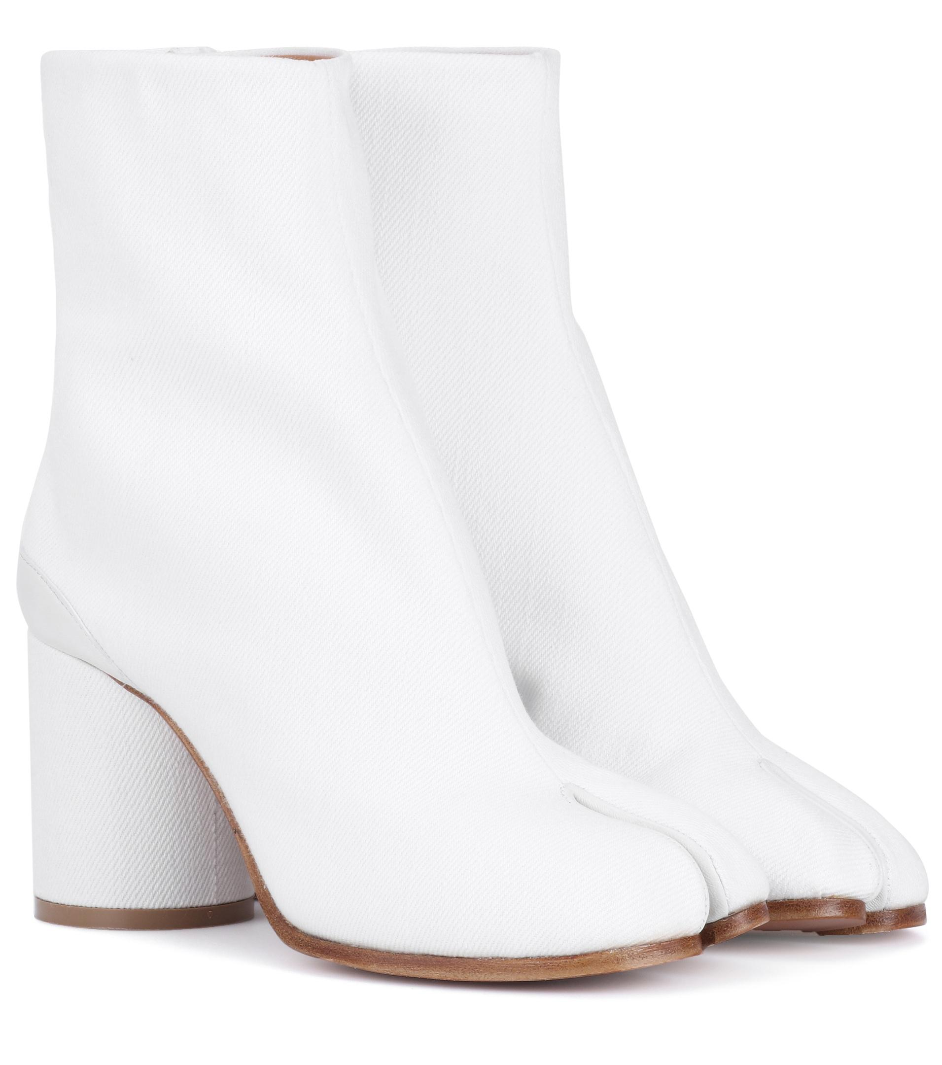 exclusive shoes performance sportswear exquisite style Maison Margiela Tabi Leather Ankle Boots in White - Save 56% - Lyst