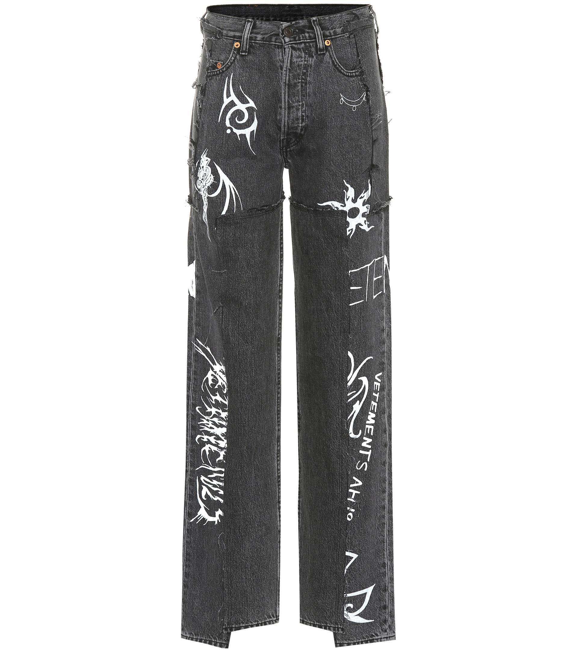 4ffa1373dbfd Vetements X Levi s® – High-rise Wide-leg Jeans in Black - Lyst