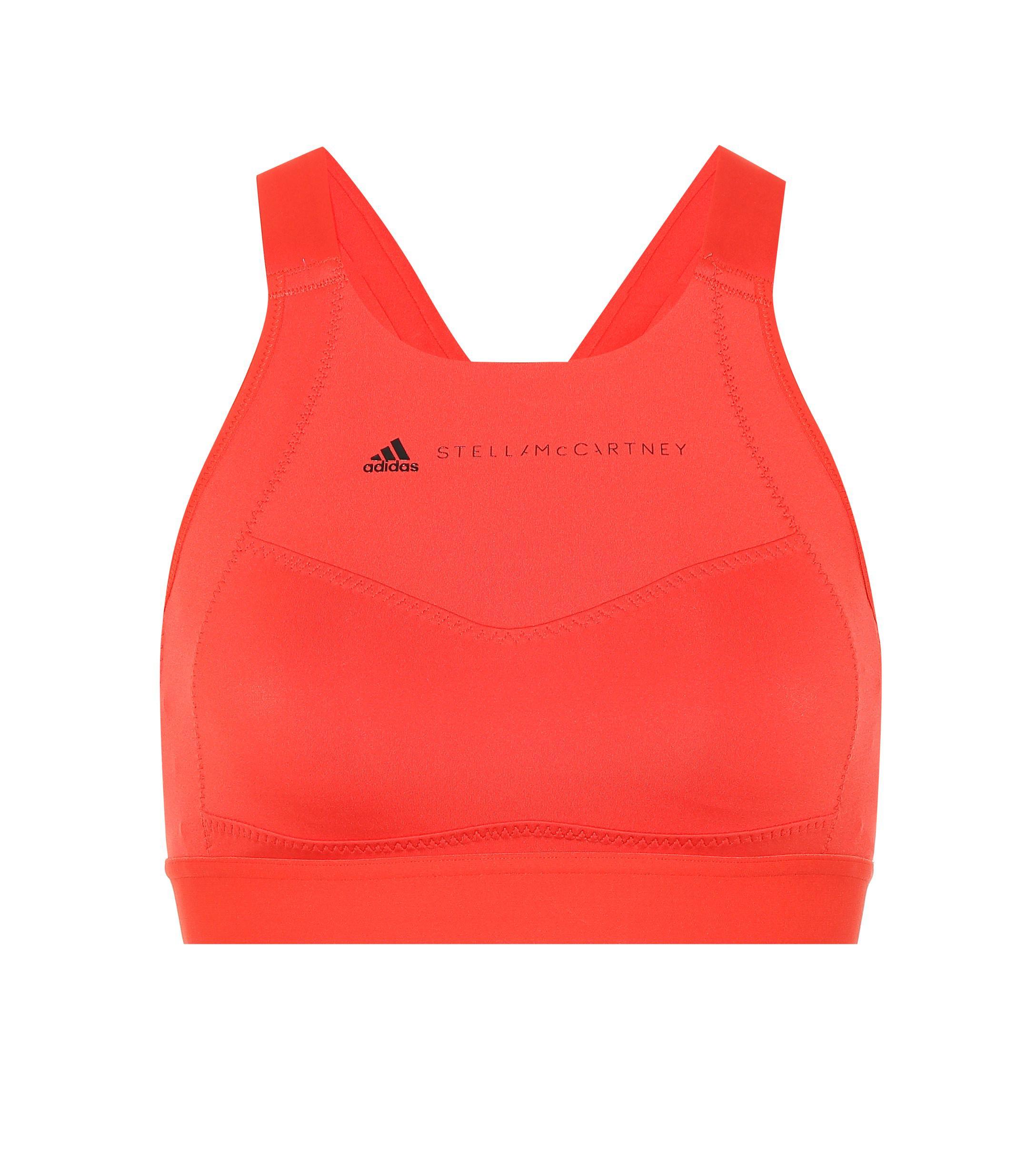 90b819e453f7b Lyst - Adidas By Stella Mccartney Stretch Sports Bra in Red