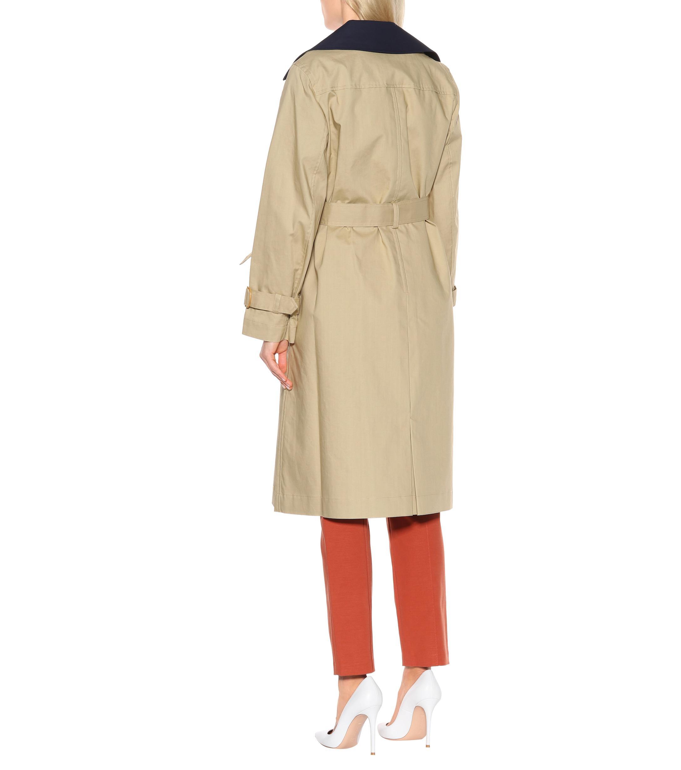 1ba427bd7d5d Tory Burch - Multicolor Ashby Cotton Trench Coat - Lyst. View fullscreen