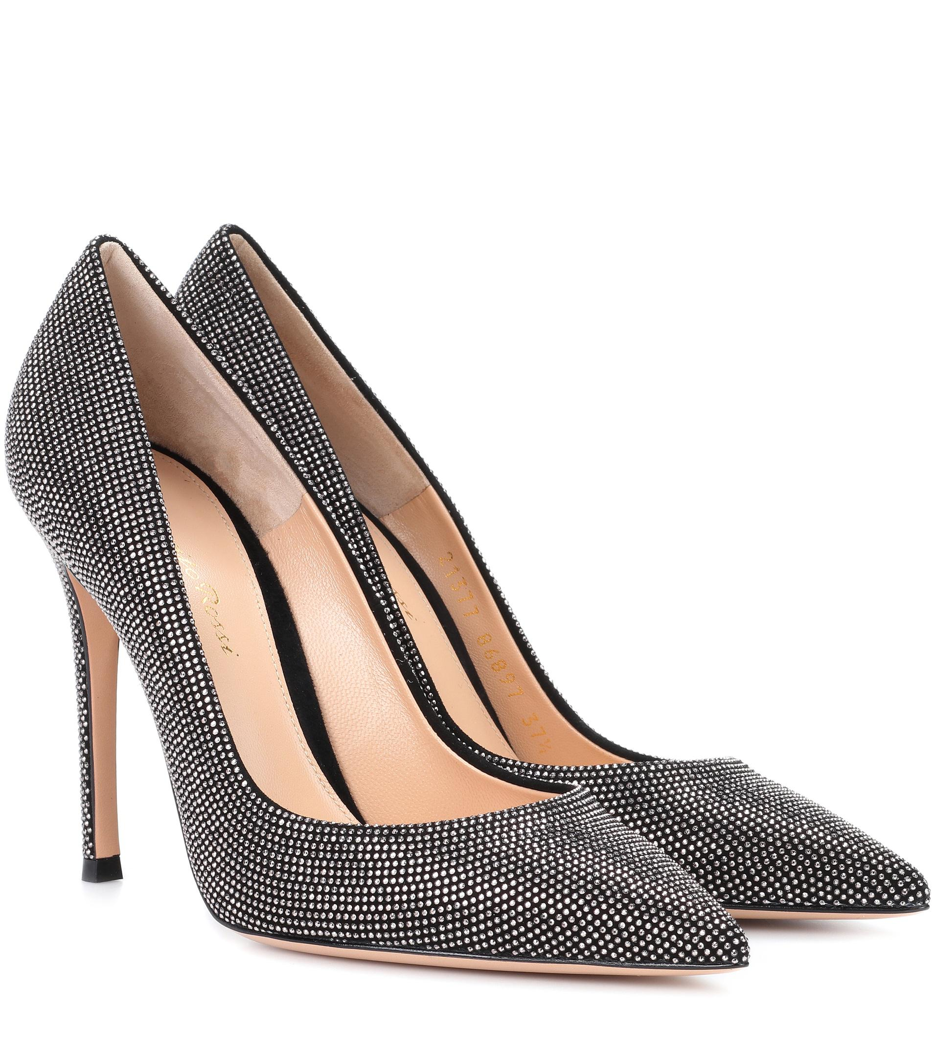 Pumps GIANVITO 85 suede black Gianvito Rossi FLUfSf