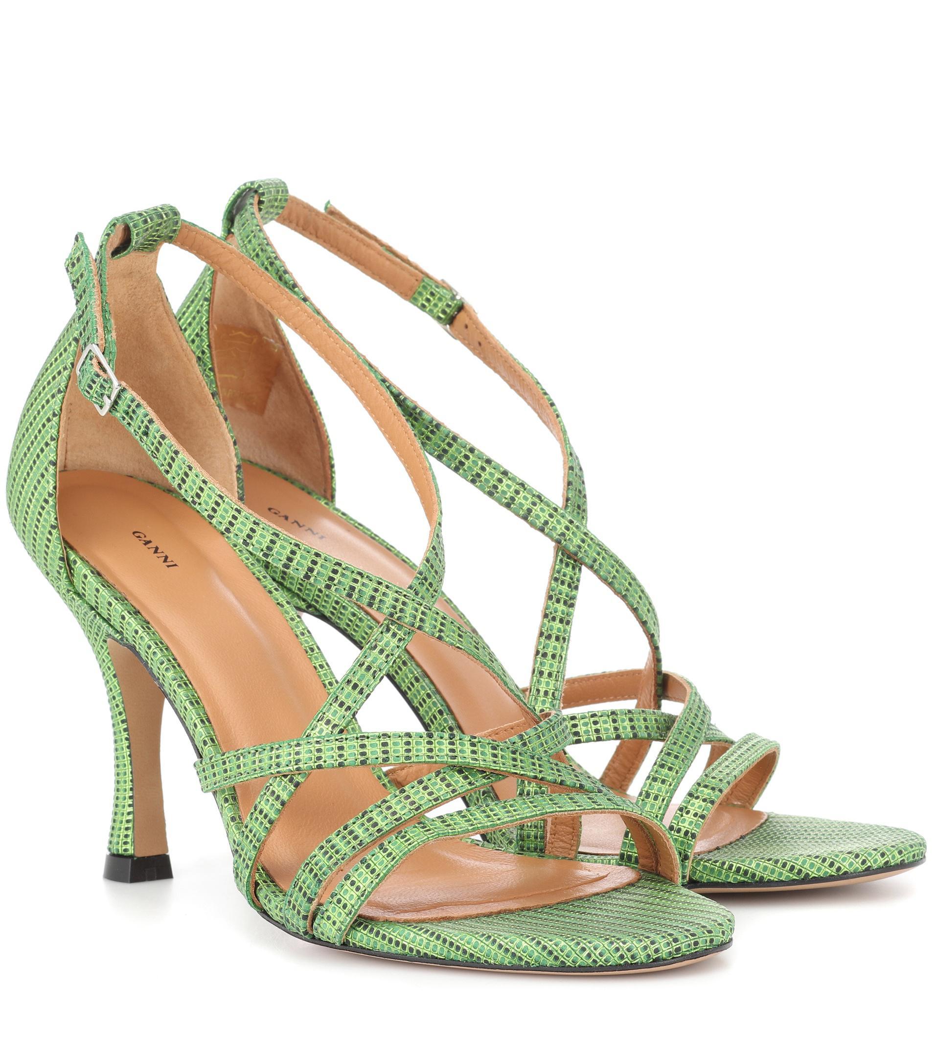 Sandales En Cuir Wilma Ganni oC2WS
