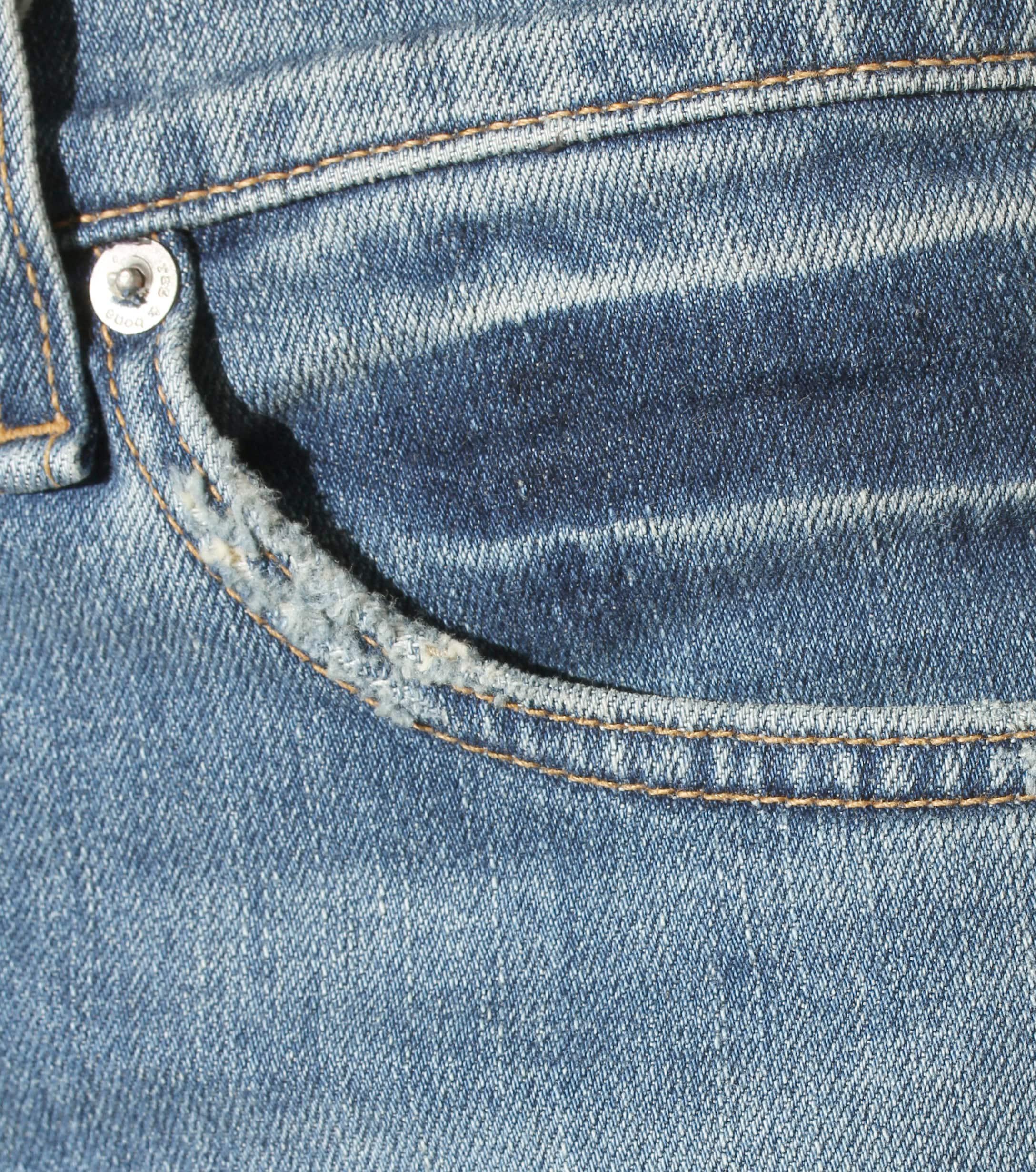 Rag & Bone Denim Stove Pipe Cropped Jeans in Blue
