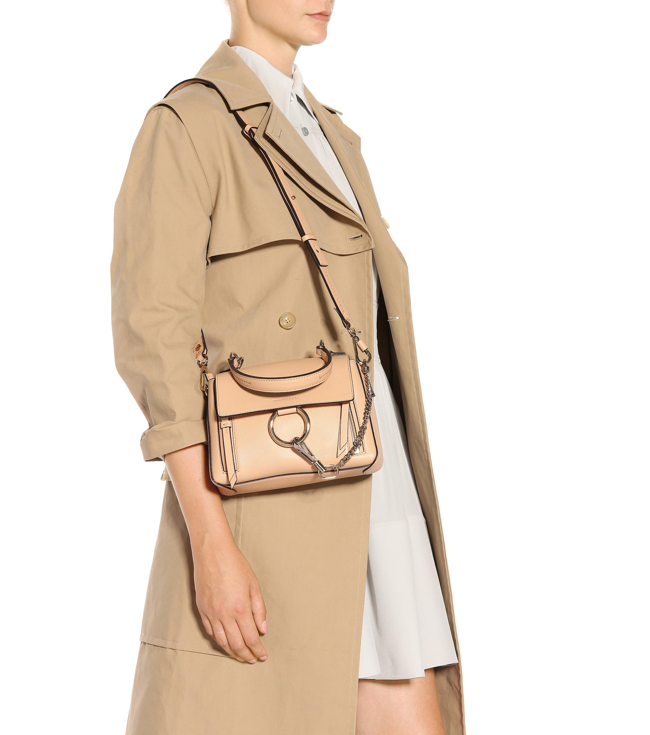 e064592d2 Chloé - Natural Mini Faye Day Leather Shoulder Bag - Lyst. View fullscreen