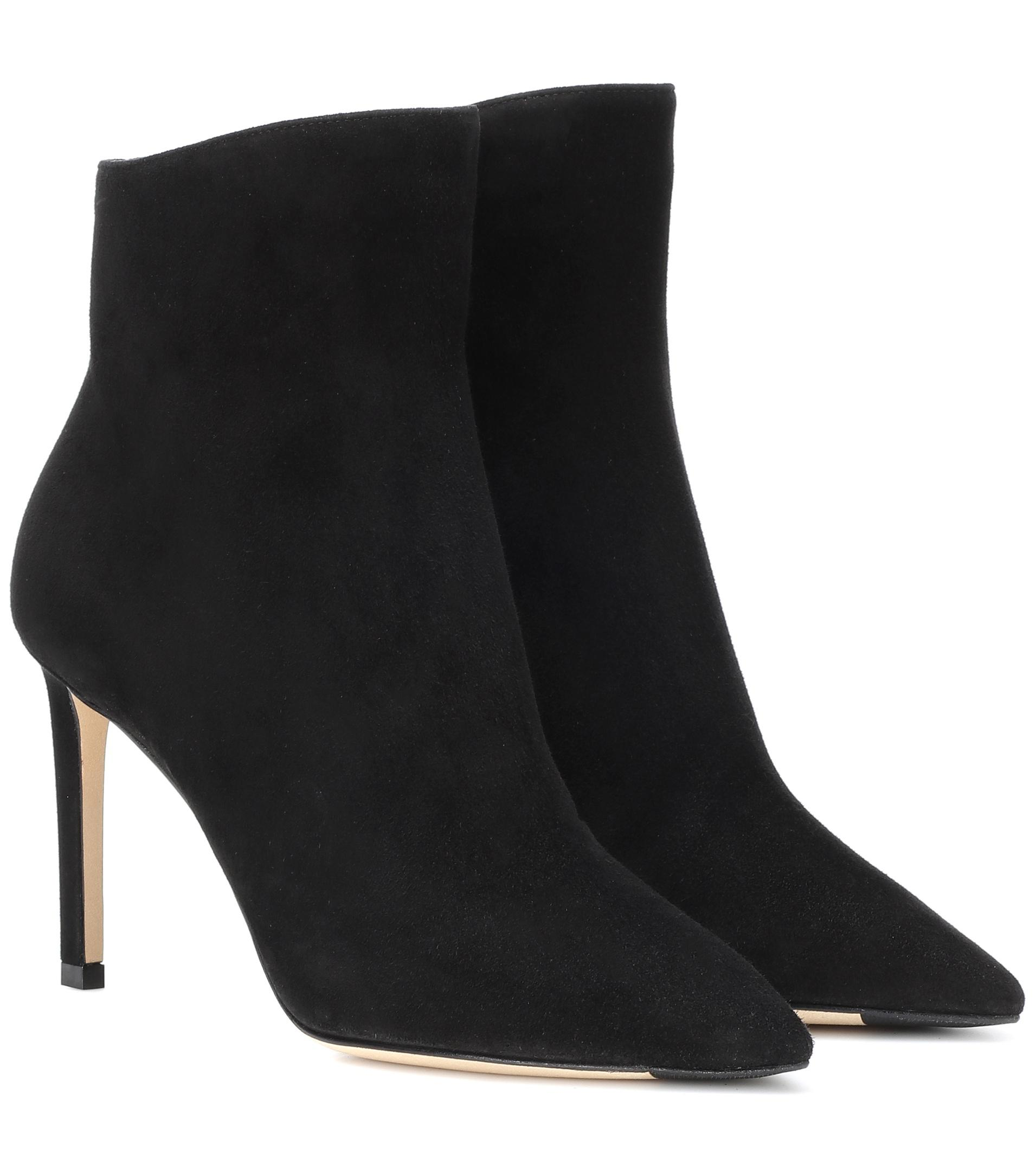 Jimmy choo 100MM HELAINE SUEDE ANKLE BOOTS FDBZIvU