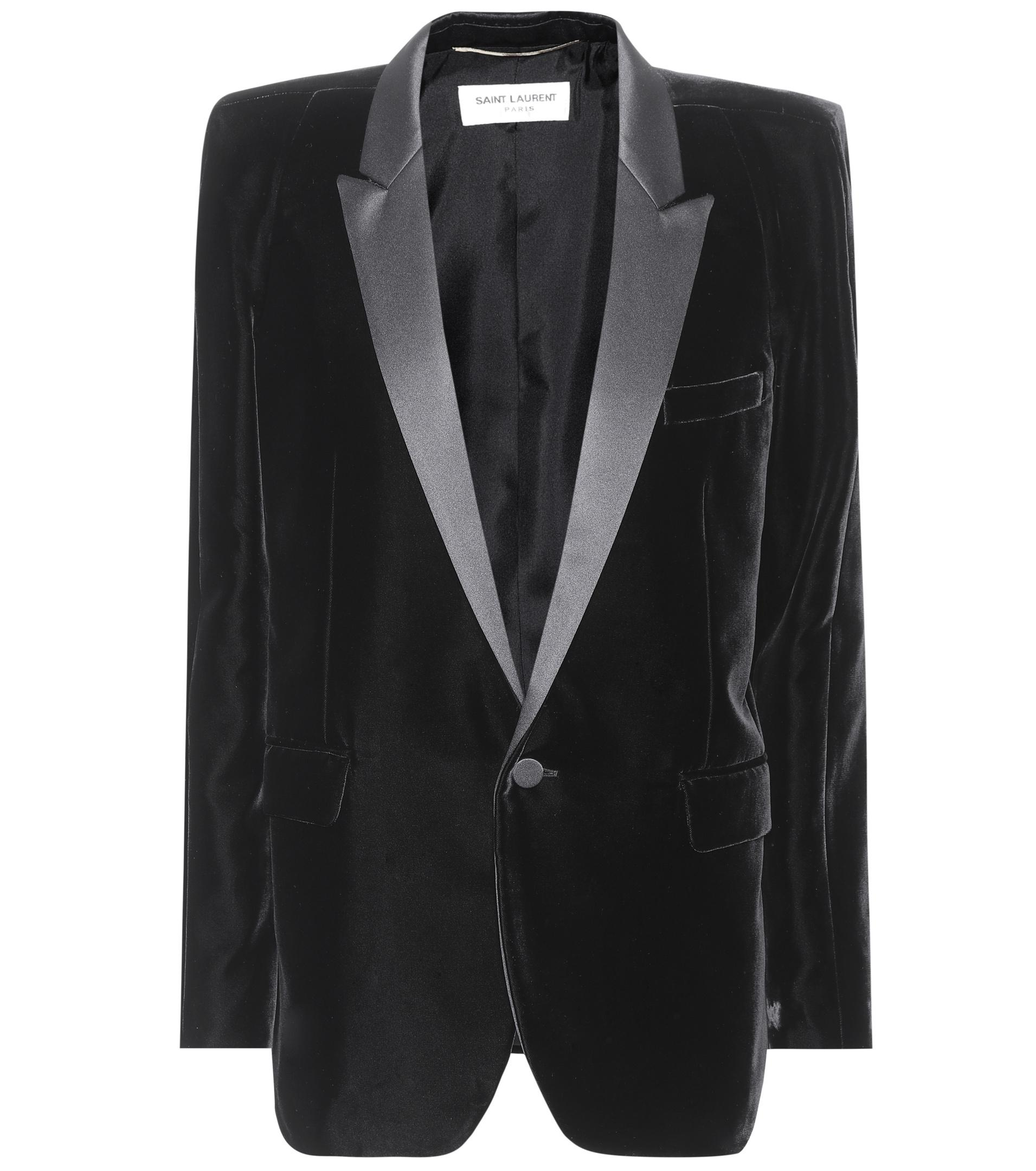 Buy Cheap Geniue Stockist Free Shipping Finishline Saint Laurent velvet tuxedo jacket - Black Professional Sale Online Fashionable Cheap Online RLwNsmNszO