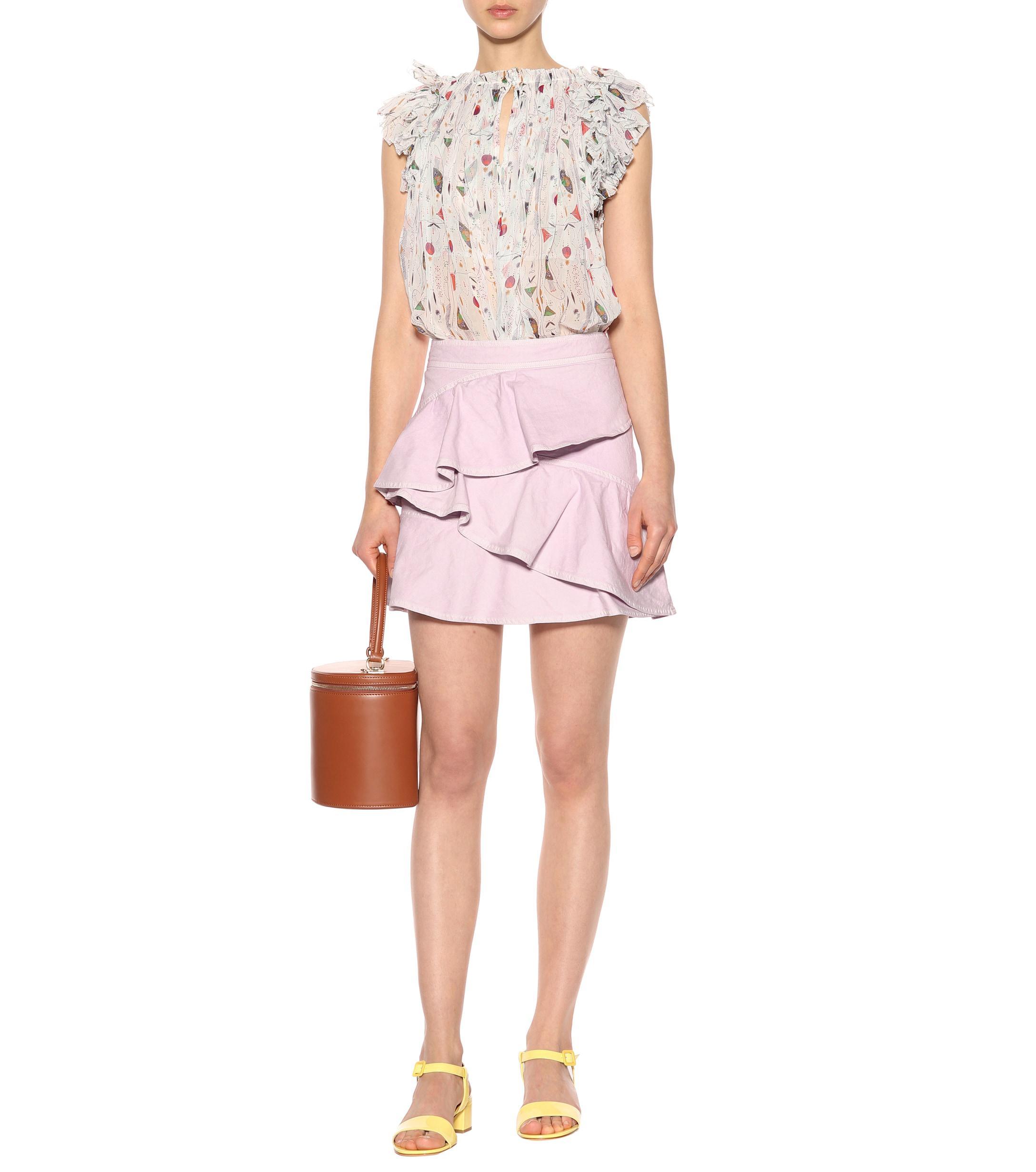 557056810 Étoile Isabel Marant - Pink Coati Cotton Miniskirt - Lyst. View fullscreen