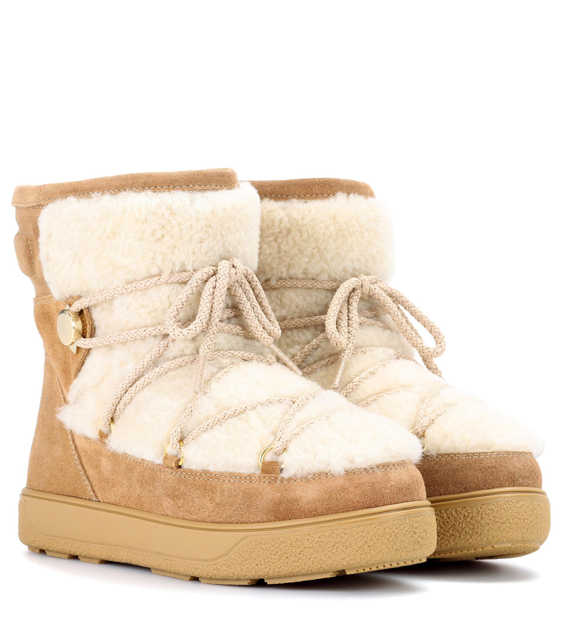 62cdb2482064 Lyst - Moncler New Fanny Suede Ankle Boots in Brown