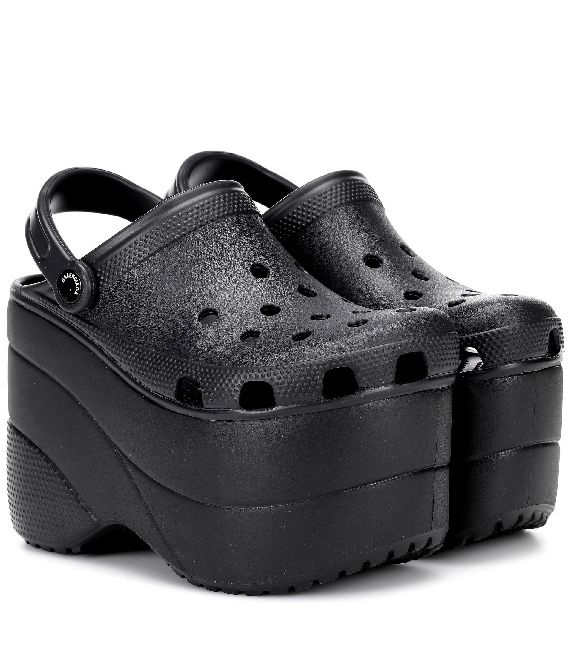 9b7fd85d0bf Balenciaga Black Platform Crocs