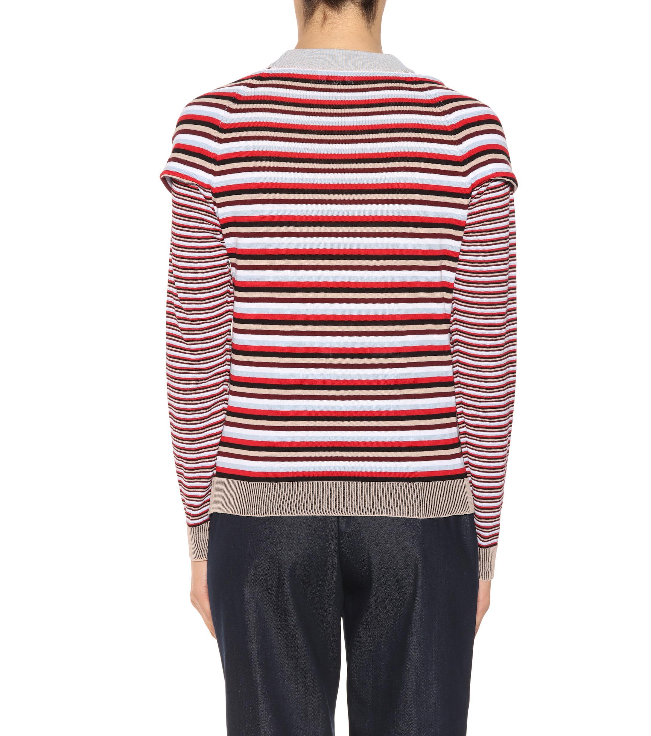Suéter de algodón a rayas Isa Arfen de Algodón de color Rojo