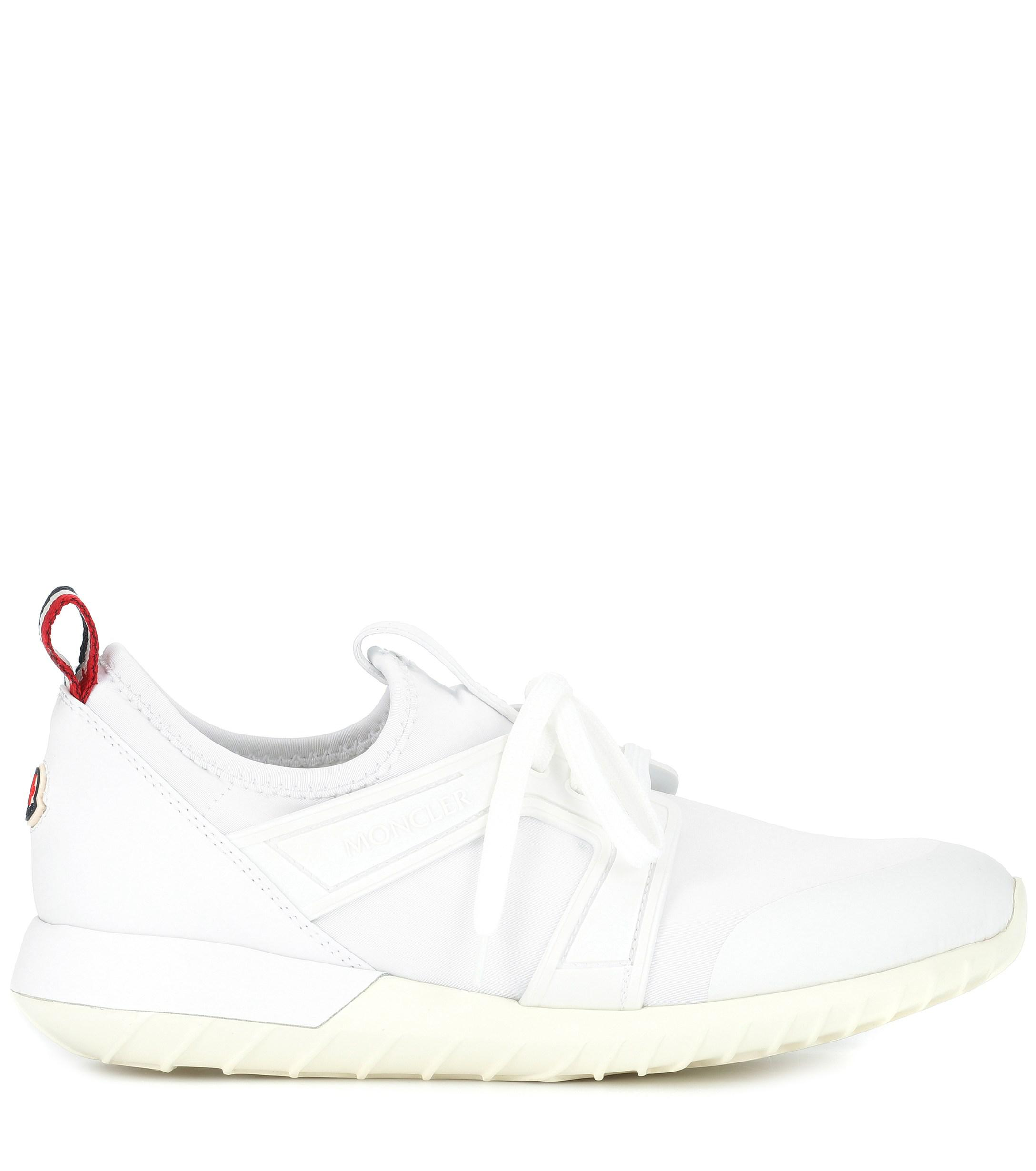 Zapatillas Meline con bordes de piel Moncler de Cuero de color Blanco