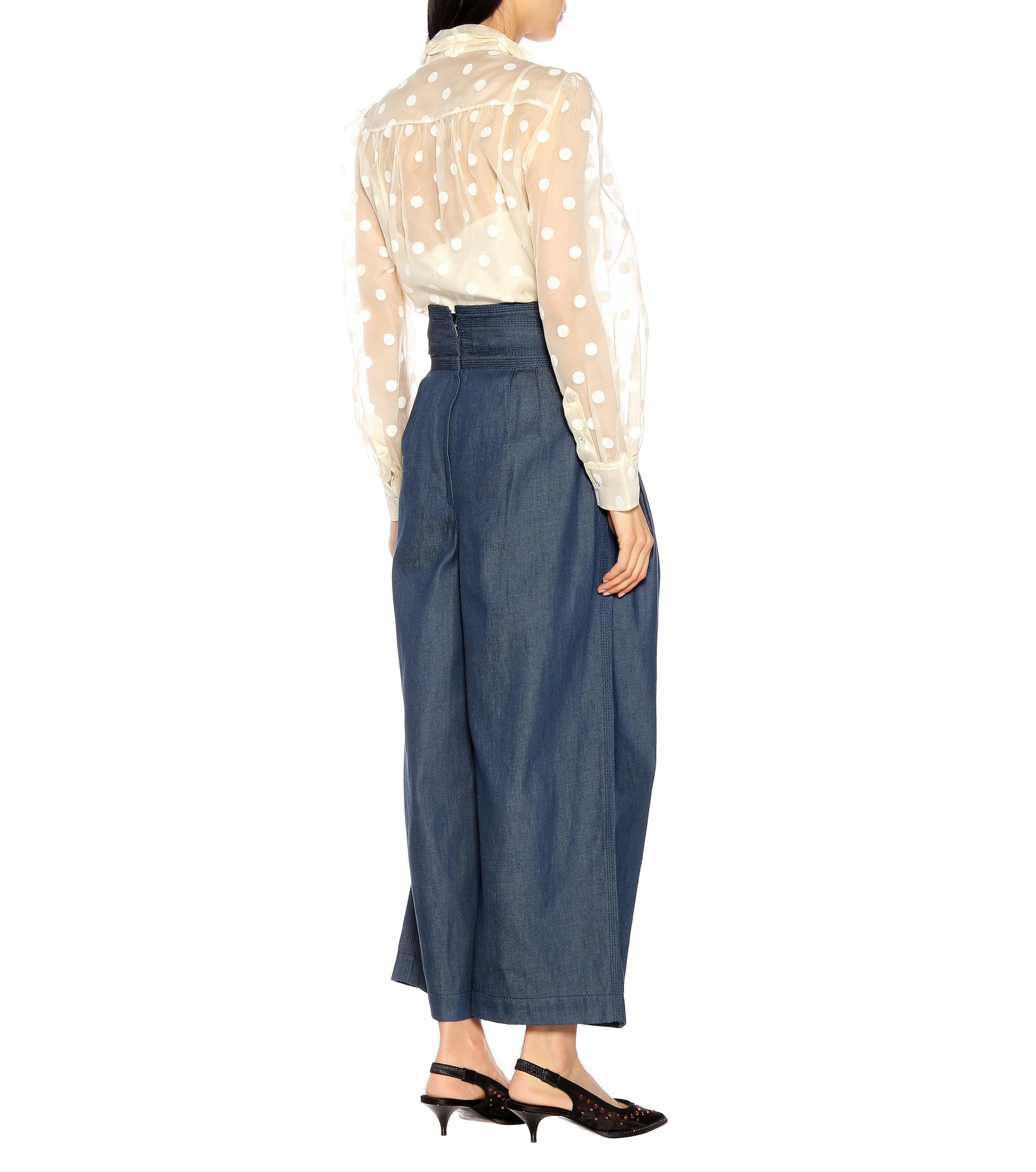 Pantalones anchos de denim Marc Jacobs de color Azul